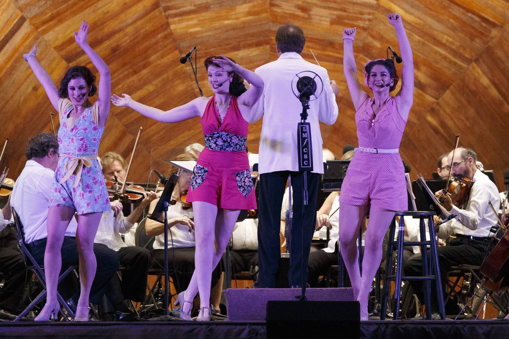 Leah Carnow, Brittany Martel, and Suzi Weisberg (Ensemble) in The Boys From Syracuse, CSC and Landmarks Orchestra 2016