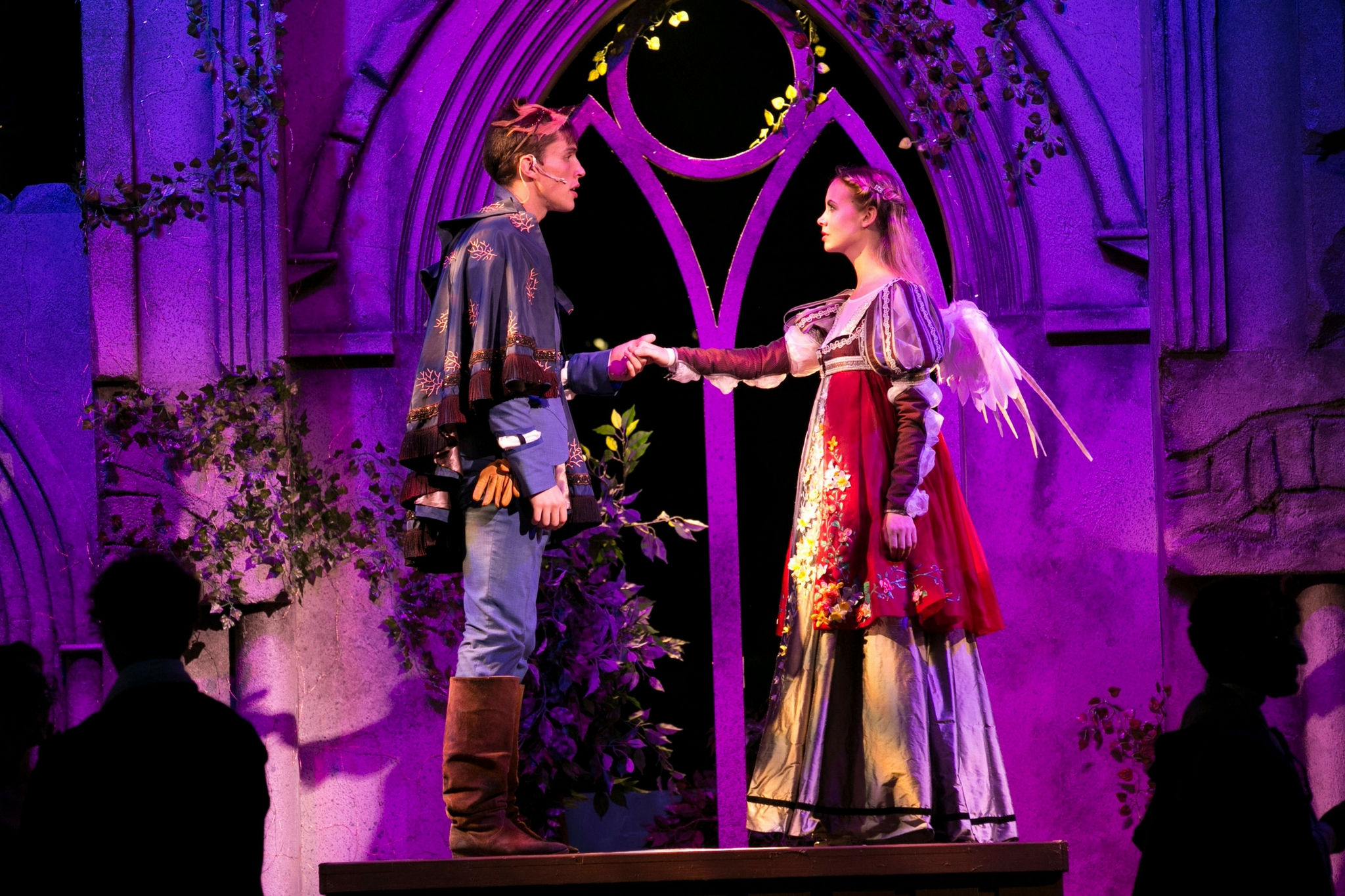 John Zdrojeski (Romeo) and Gracyn Mix (Juliet) in Romeo & Juliet, Shakespeare on the Common 2017-Photo by Evgenia Eliseeva