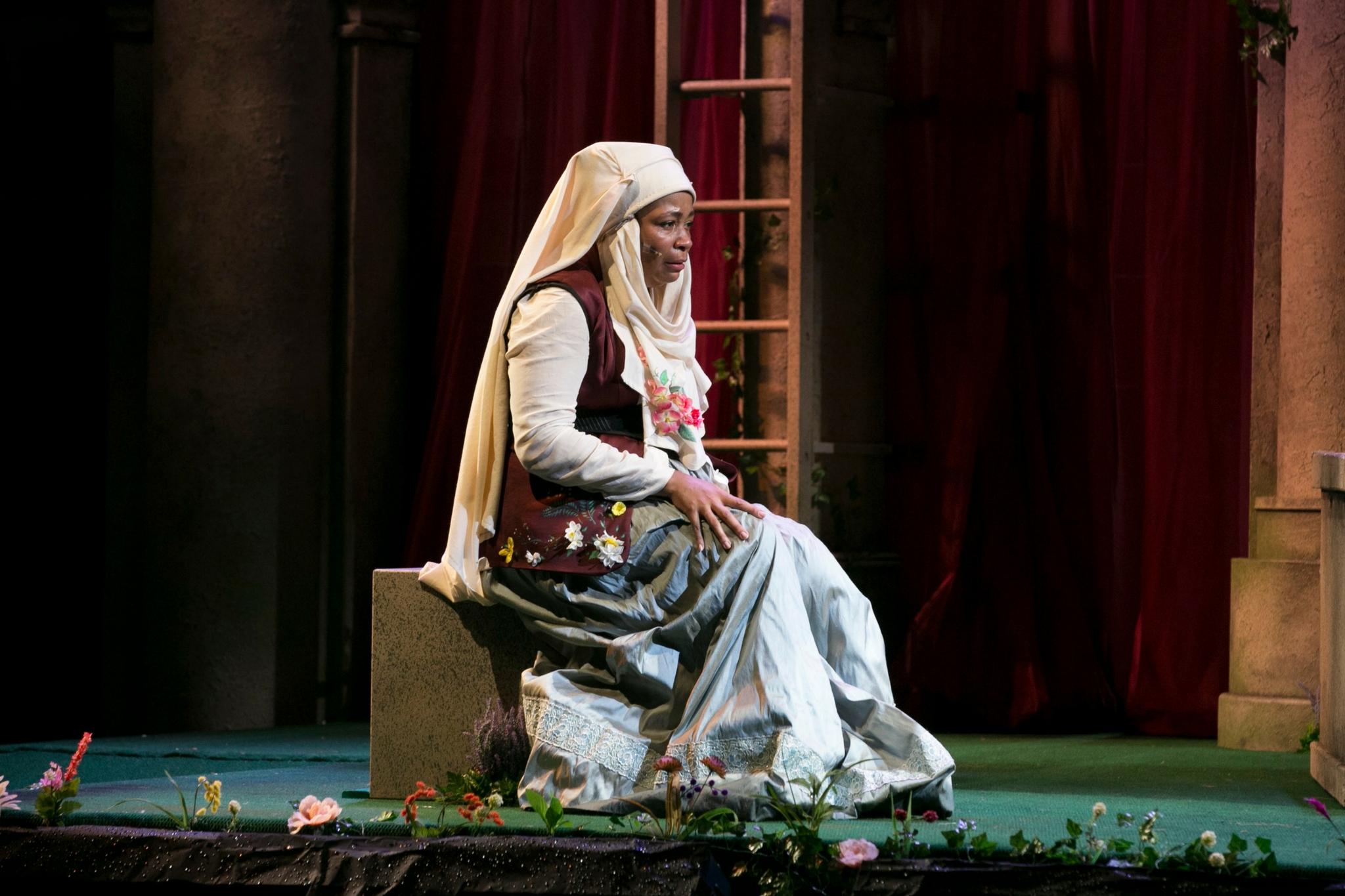 Ramona Lisa Alexander (Nurse) in Romeo & Juliet, Shakespeare on the Common 2017-Photo by Evgenia Eliseeva