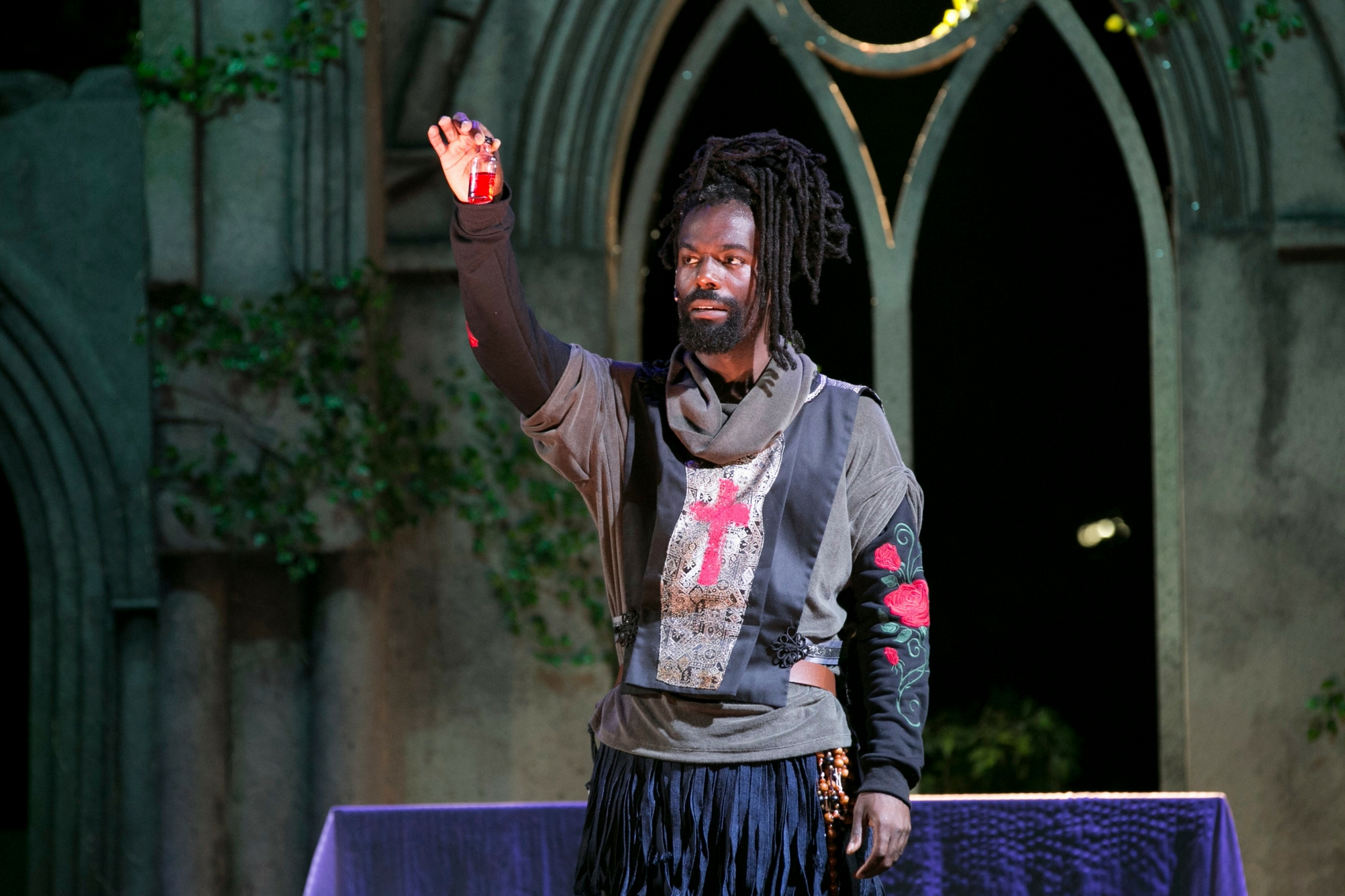 Equiano Mosieri (Friar Laurence) in Romeo & Juliet, Shakespeare on the Common 2017-Photo by Evgenia Eliseeva