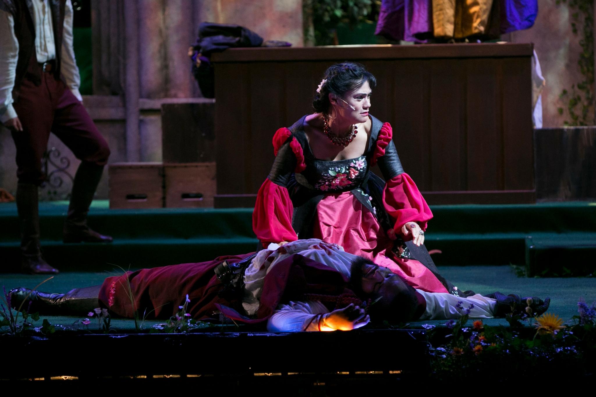 Celeste Oliva (Lady Capulet) in Romeo & Juliet, Shakespeare on the Common 2017-Photo by Evgenia Eliseeva