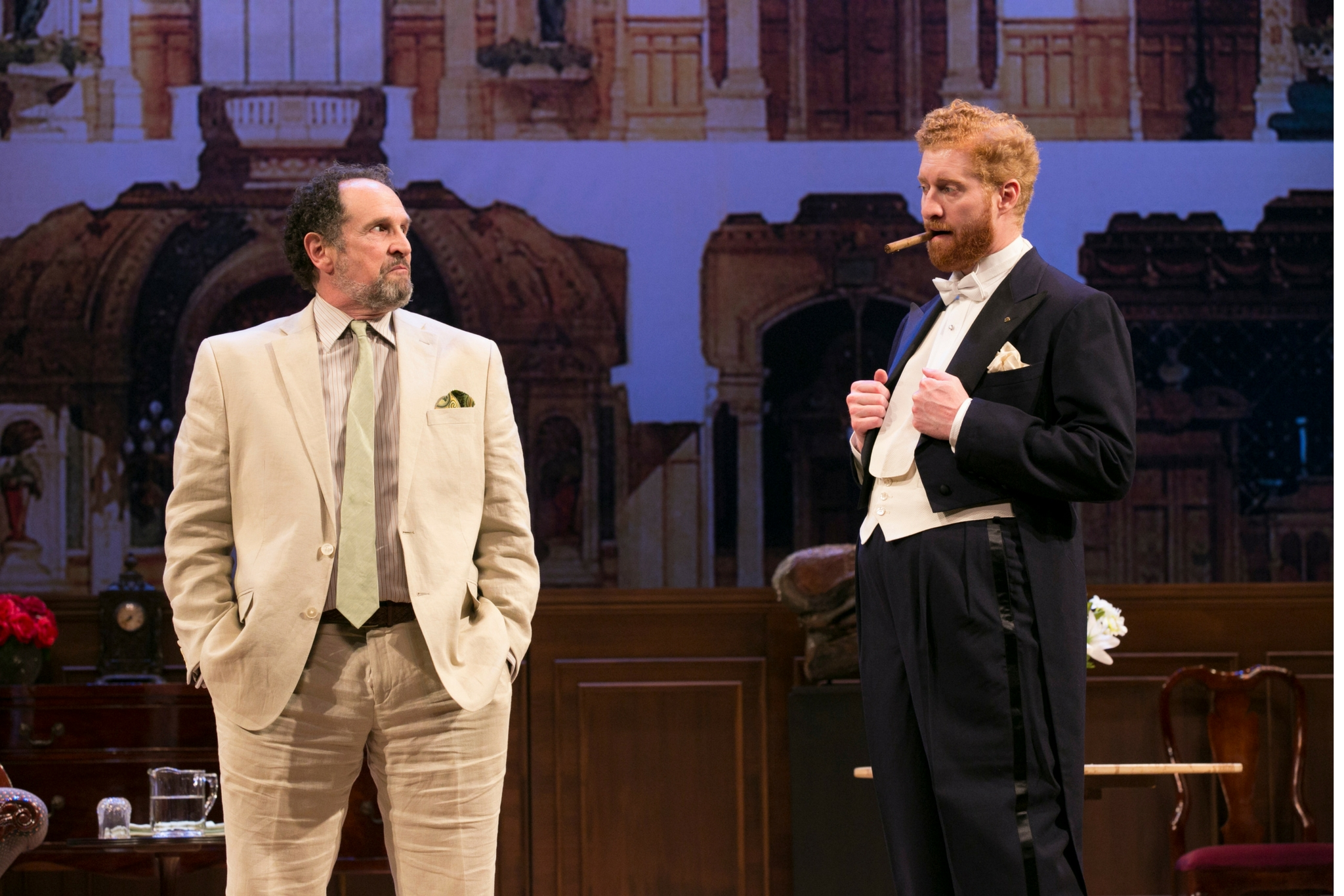 Jeremiah Kissel (Jeffrey Bernstein) and Ed Hoopman (Tobias Viivan Pfeiffer) in Old Money, 2017-Photo by Evgenia Eliseeva