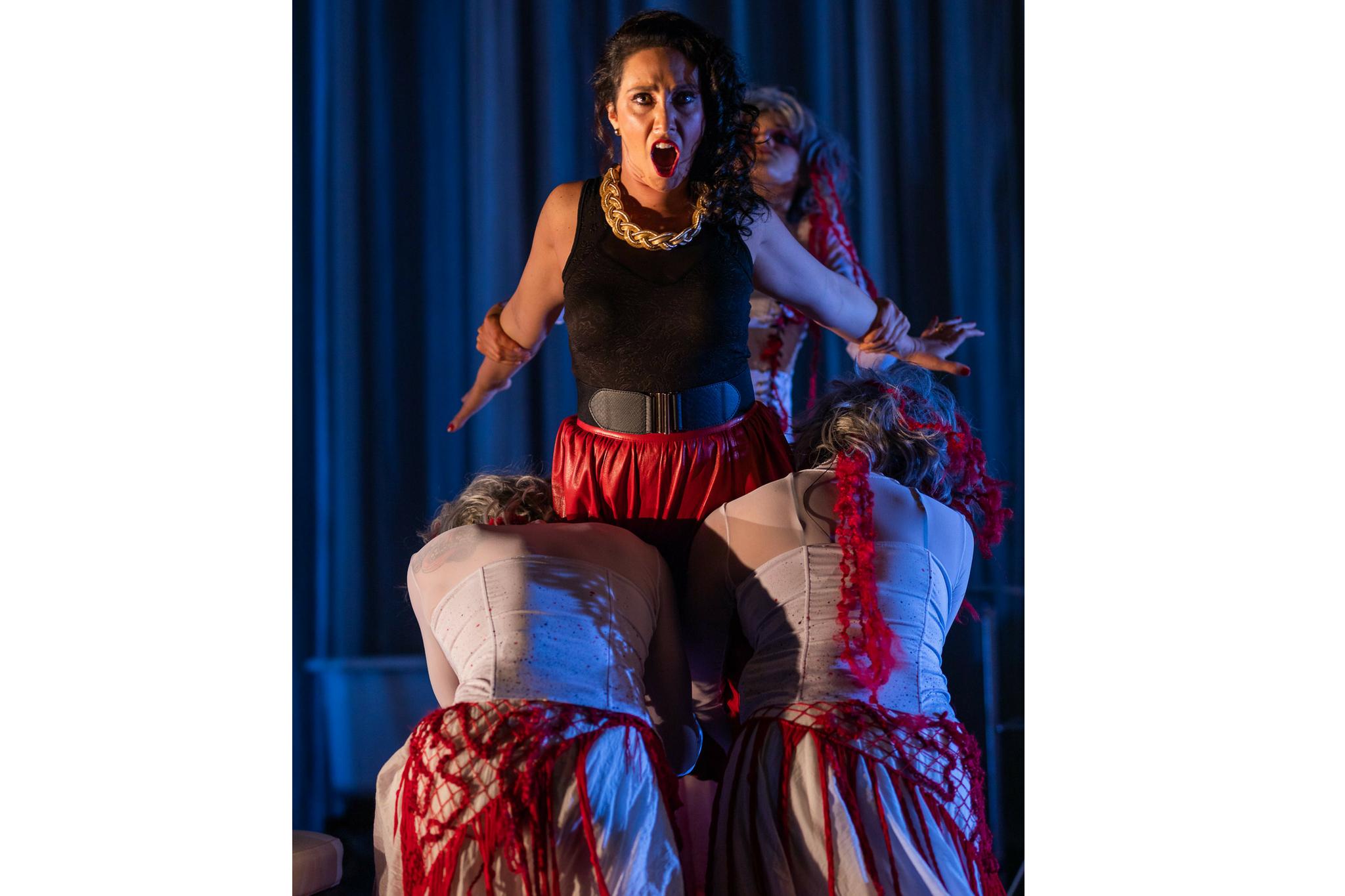 Stefanie Resnick (Lady Macbeth) in Macbeth, CSC2, 2018-Photo by Nile Hawver