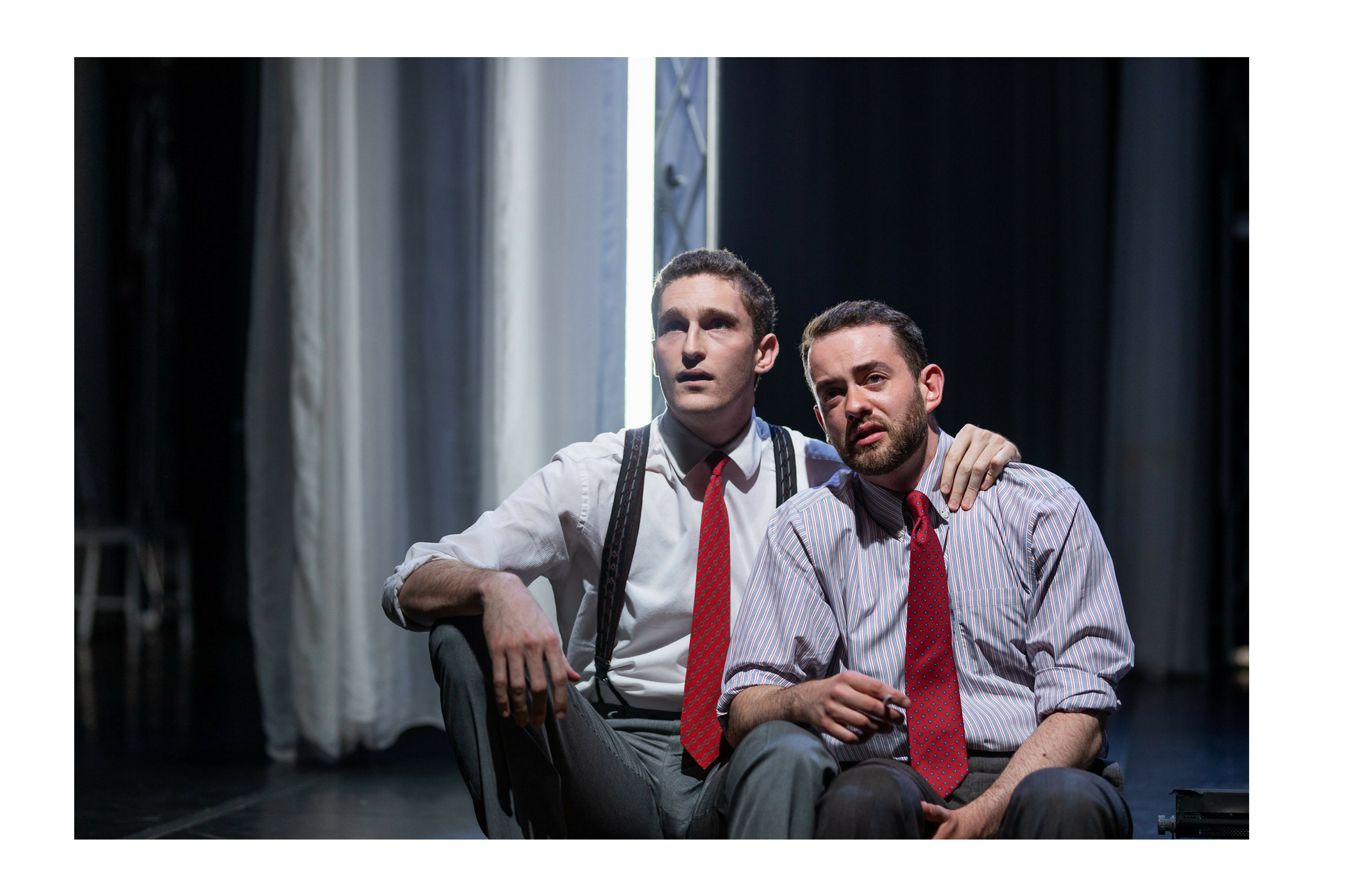 Ross Barron (Ross) and Kody Grasset (Lenox) in Macbeth, CSC2, 2018-Photo by Nile Hawver