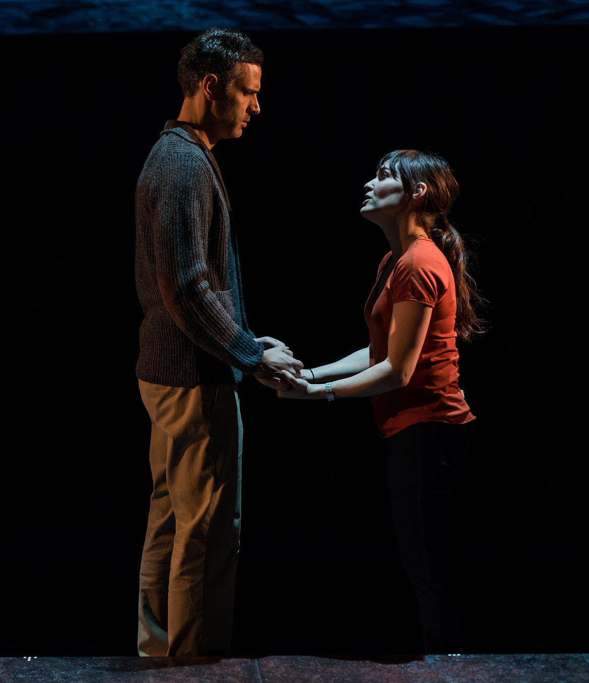 Mickey Solis (Gerardo Escobar) and Flora Diaz (Paulina Salas) in Death and the Maiden, 2017-Photo by Nile Hawver/Nile Scott Shots