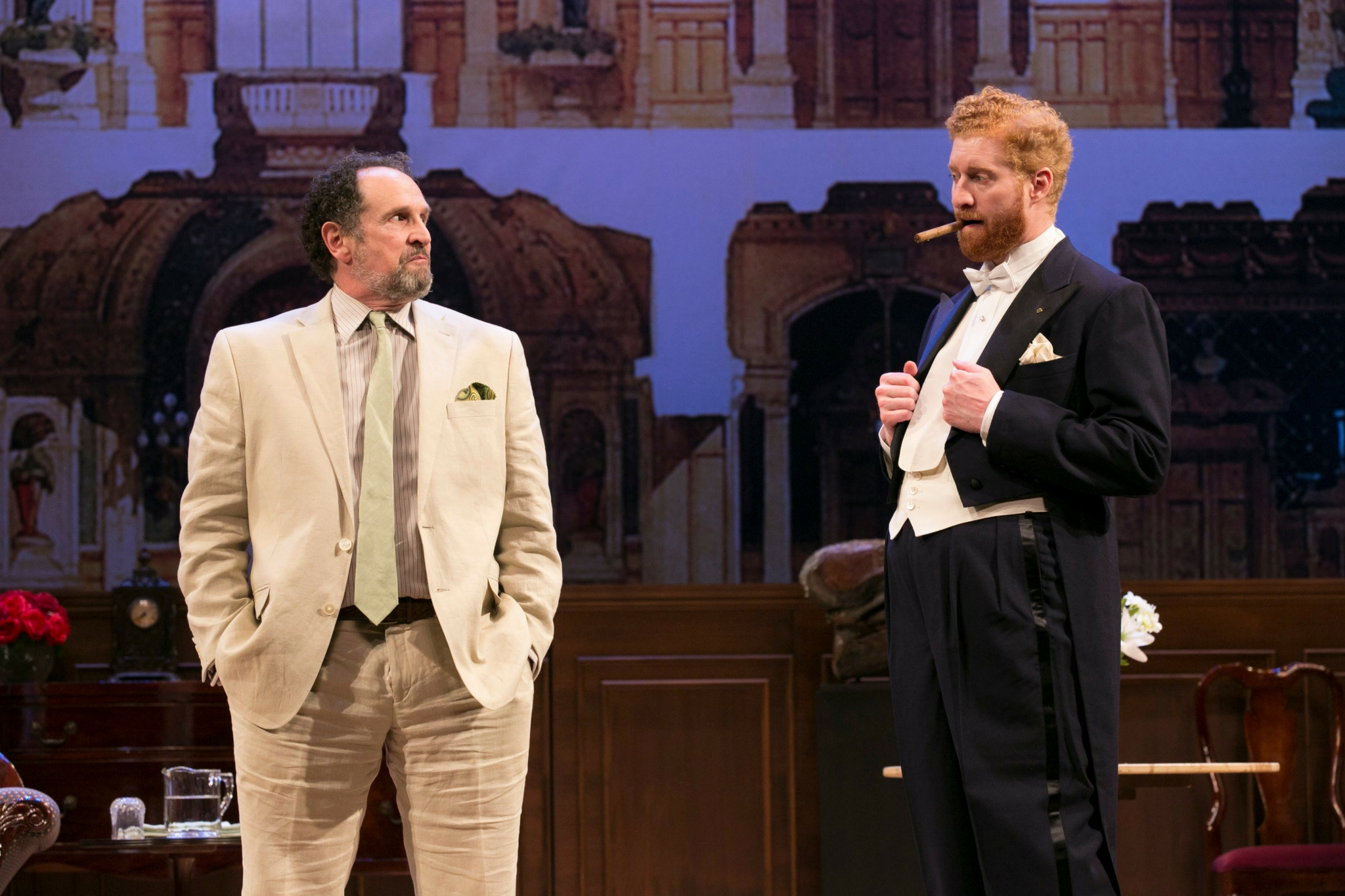 Jeremiah Kissel (Jeffrey Bernstein) and Ed Hoopman (Tobias Vivian Pfeiffer) in Old Money, 2018-Photo by Evgenia Eliseeva