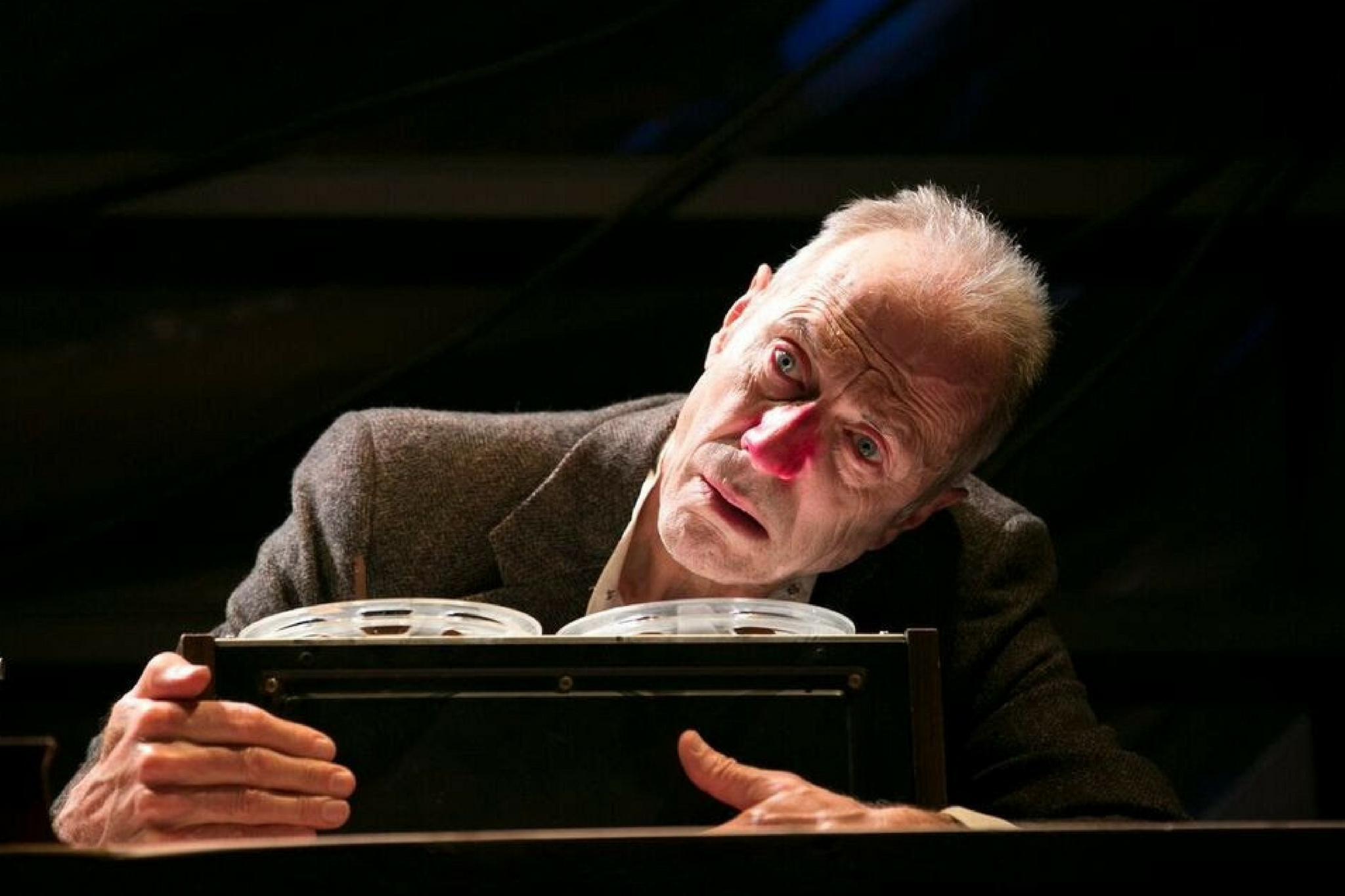Will Lyman (Krapp) in Krapp's Last Tape as part of Beckett in Brief, 2017-Photo by Evgenia Eliseeva