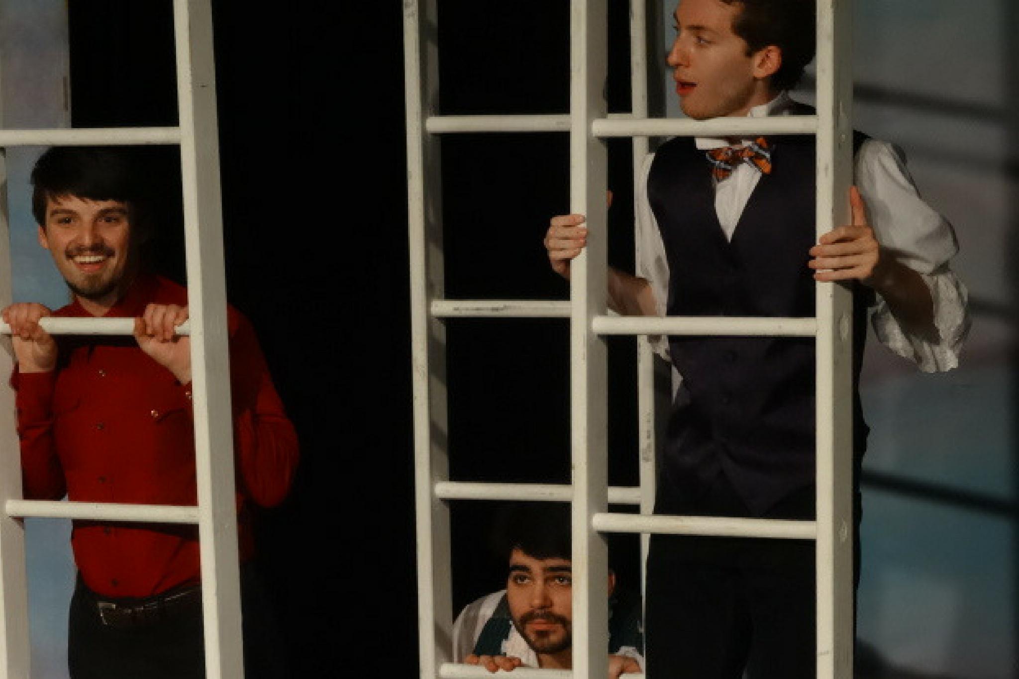 Alex Deroo and the cast of Twelfth Night, Apprentice Program, 2015