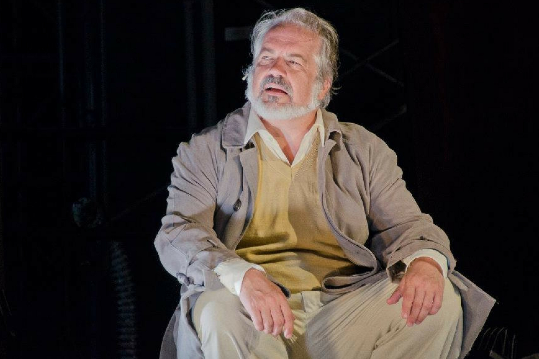 Fred Sullivan, Jr. (Menenius Agrippa) in Coriolanus, Shakespeare on the Common 2012-Photo by Andrew Brilliant