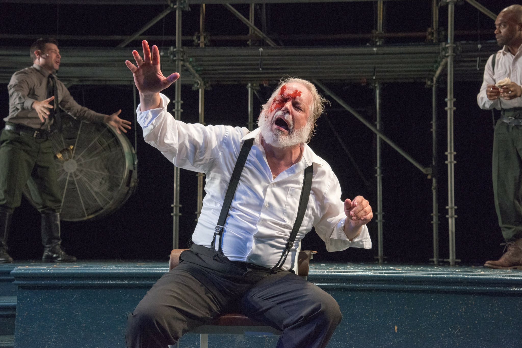 Fred Sullivan, Jr. (Earl of Gloucester)in King Lear, Shakespeare on the Common 2015-Photo by Andrew Brilliant