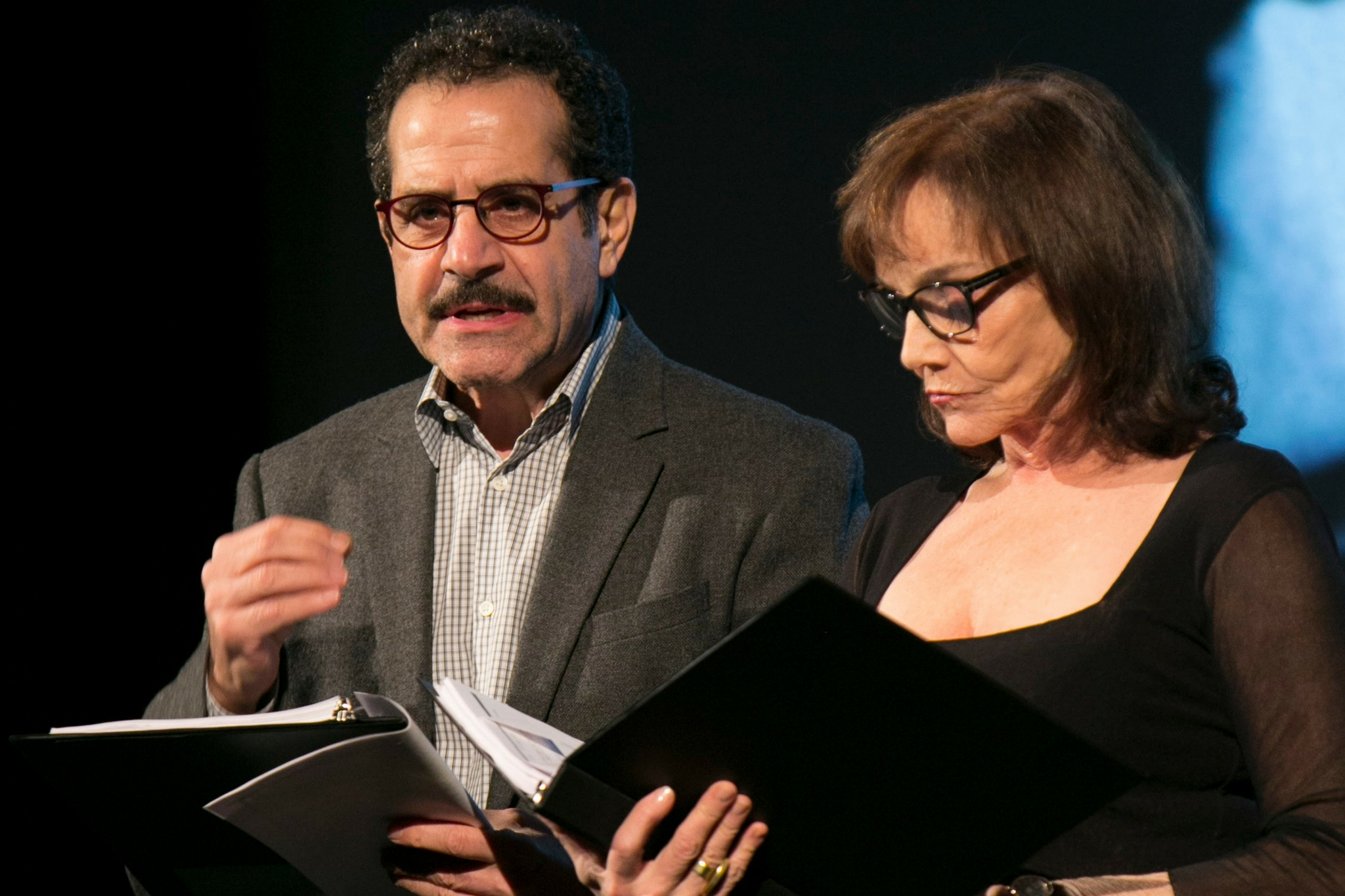 Tony Shalhoub (Man) and Brooke Adams (Woman) in Fear and Misery in the Third Reich, Theatre in the Rough, 2017-Photo by Evgenia Eliseeva