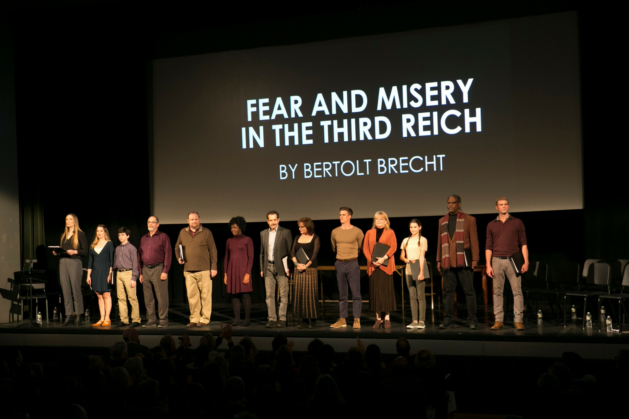 The cast of Fear and Misery in the Third Reich, Theatre in the Rough, 2017-Photo by Evgenia Eliseeva