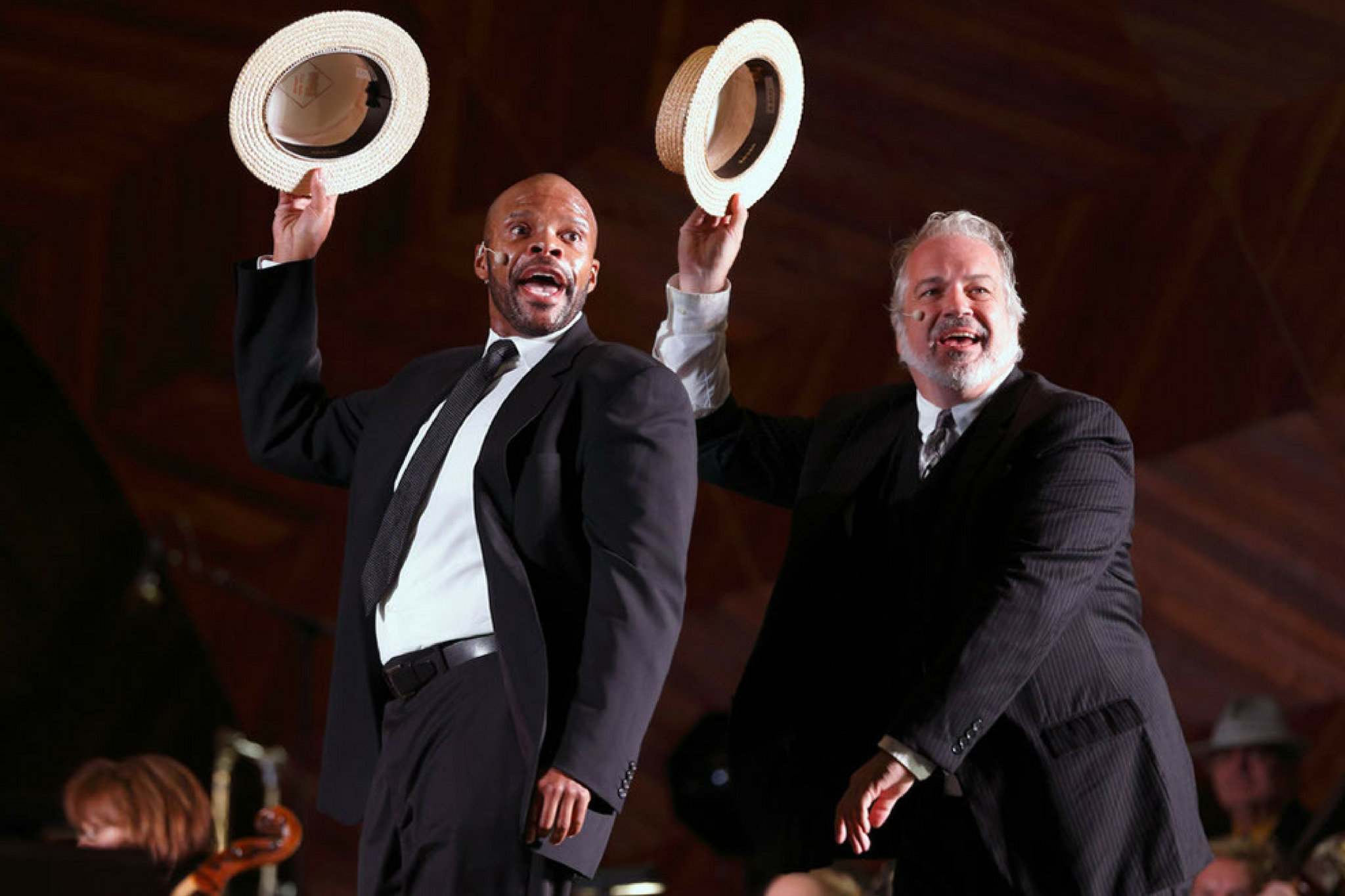 Brian Robinson (Gangster No. 2) and Fred Sullivan, Jr. (Gangster No. 1) in Kiss Me Kate, CSC and Landmarks Orchestra 2014. Photo by Michael Dwyer.