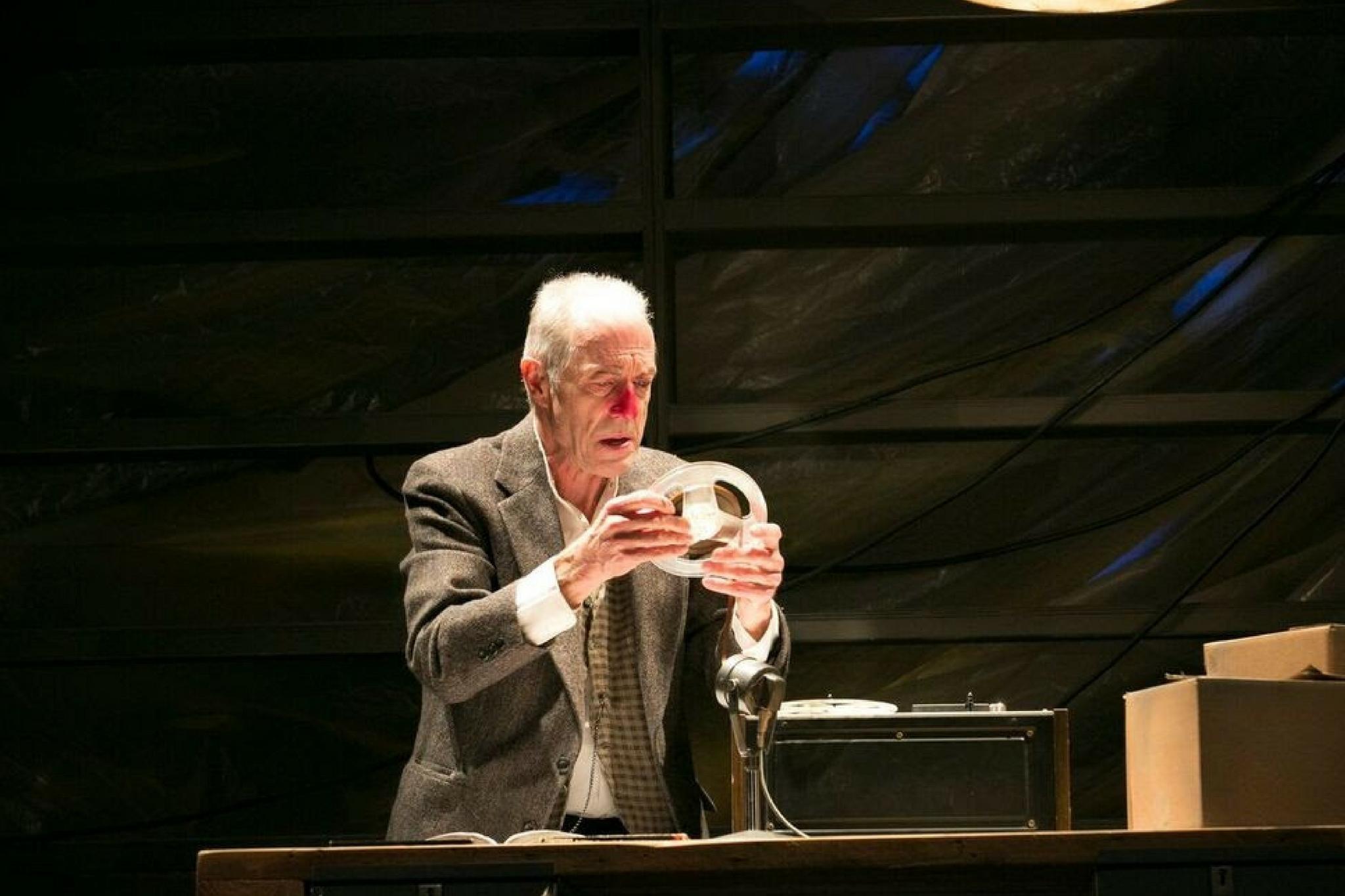 Will Lyman (Krapp) in Krapp's Last Tape, part of Beckett in Brief, 2017-Photo by Evgenia Eliseeva