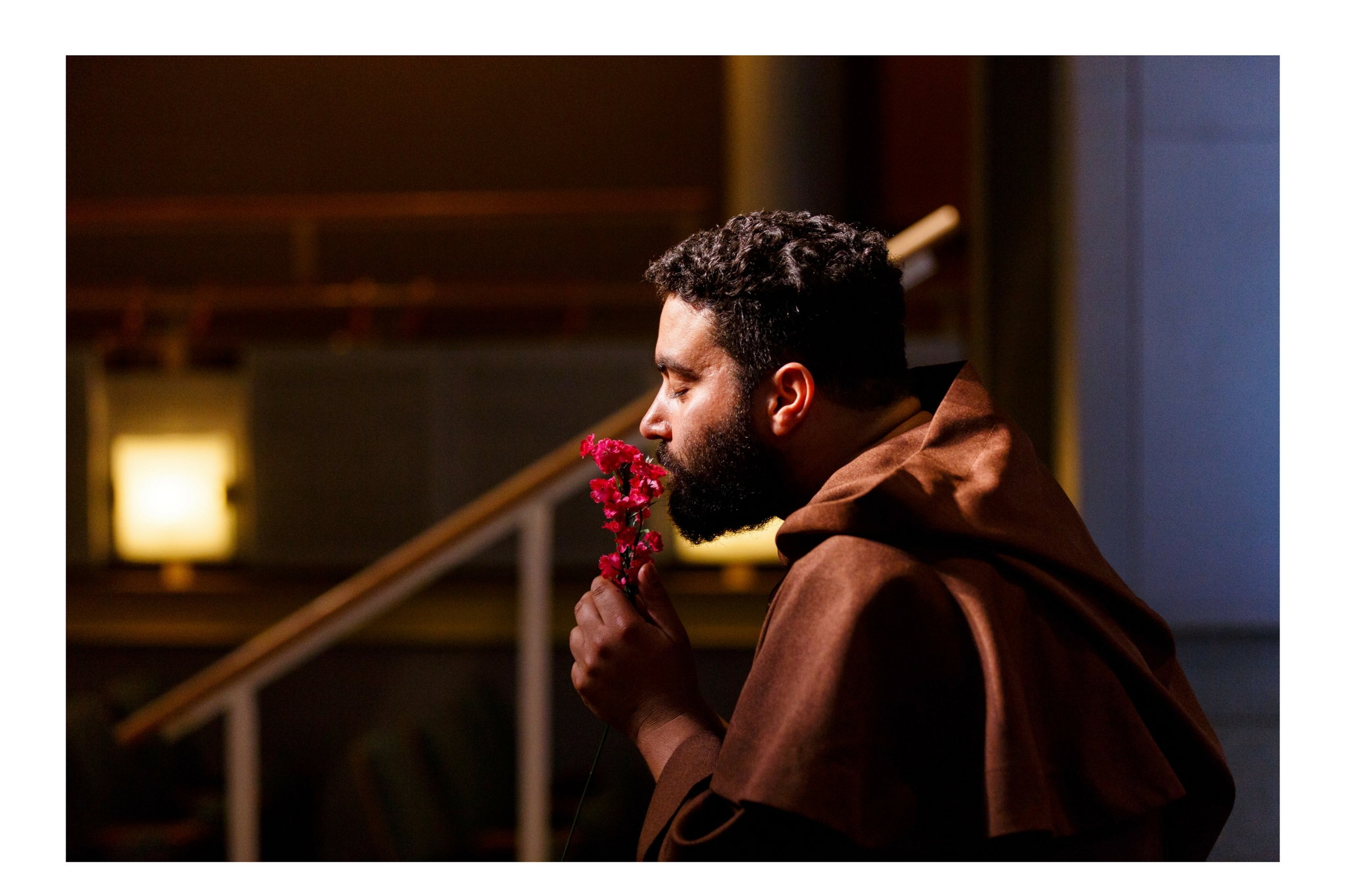 Arisael Rivera (Friar Laurence) in Romeo & Juliet, CSC2, 2015-Photo by Nile Hawver