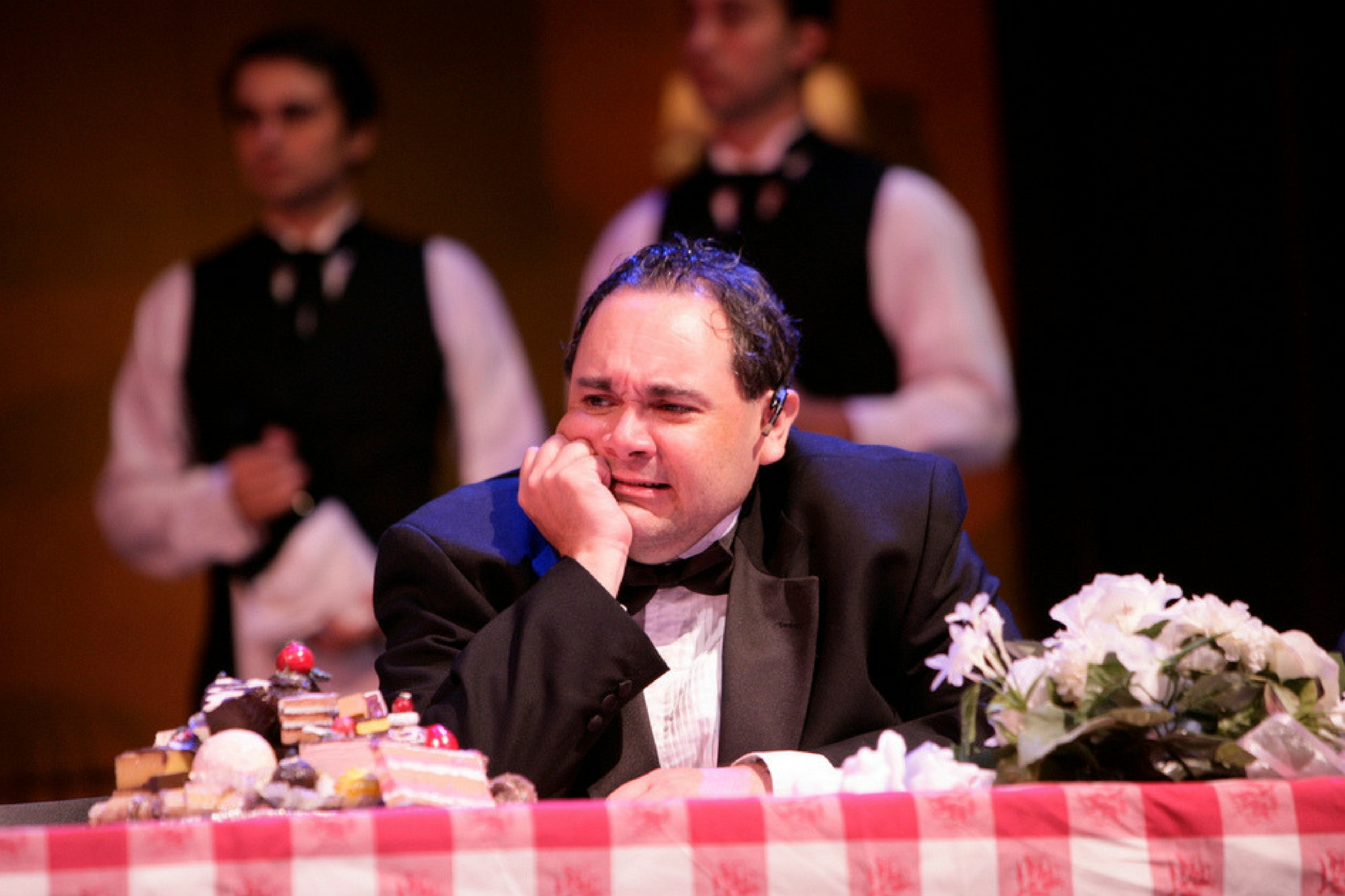 Remo Airaldi (Hortensio) in The Taming of the Shrew, Shakespeare on the Common 2006-Photo by T. Charles Erickson