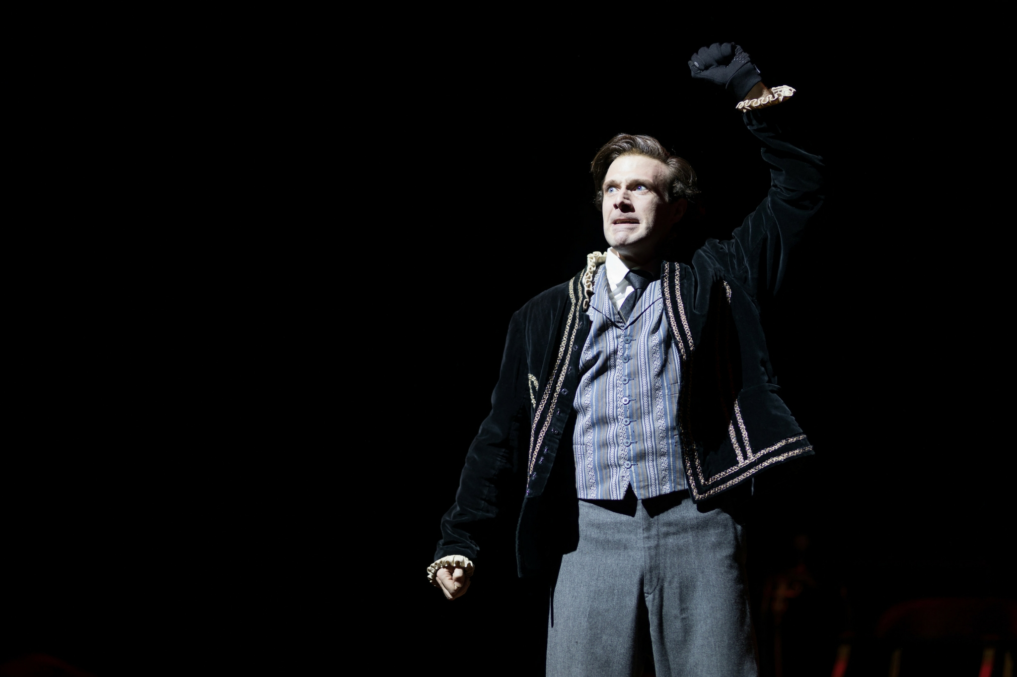 Jacob Fishel (Edwin Booth) in Our American Hamlet, 2017-Photo by Nile Hawver