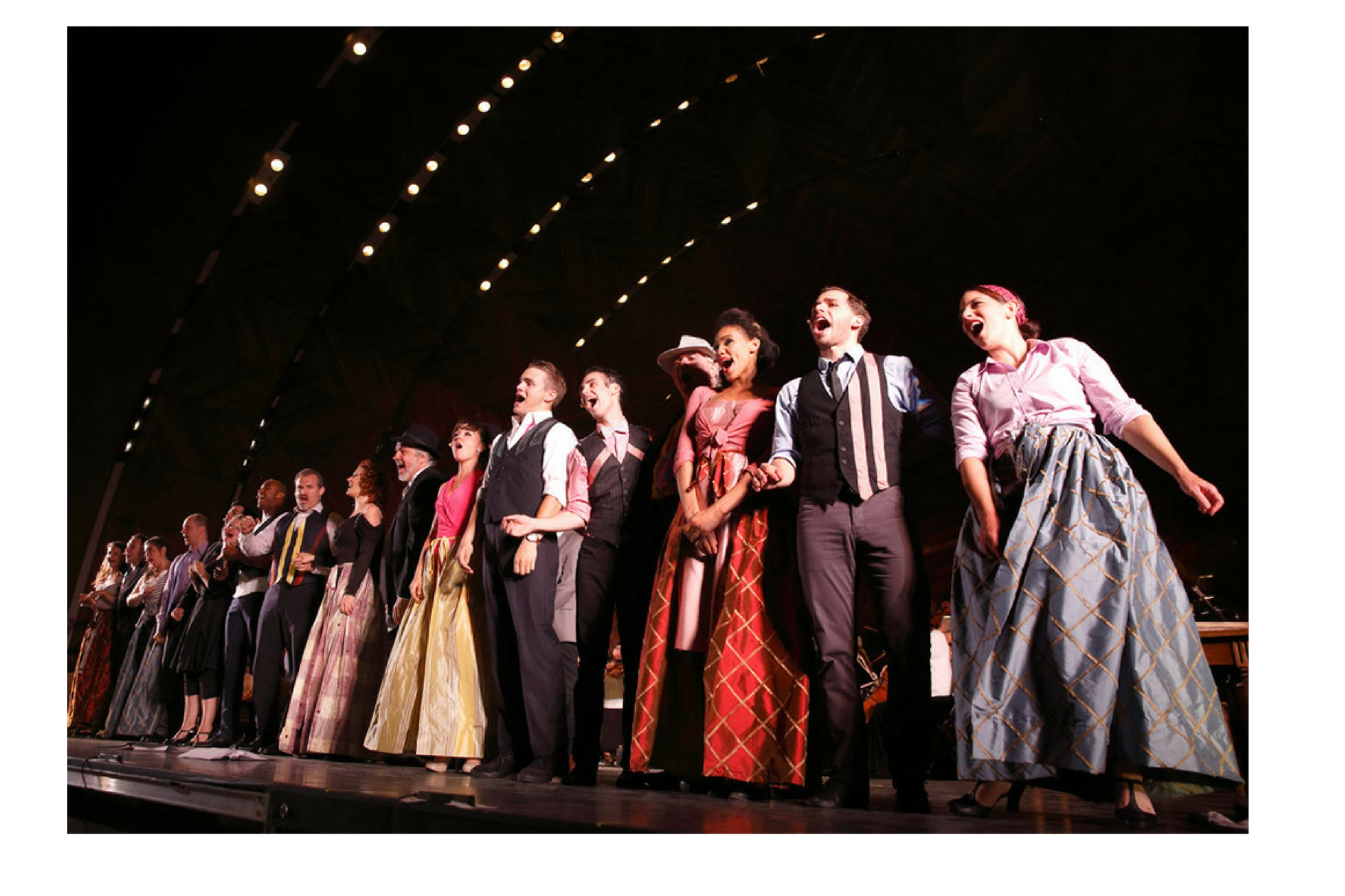 The cast of Kiss Me Kate, CSC and Landmarks Orchestra 2014
