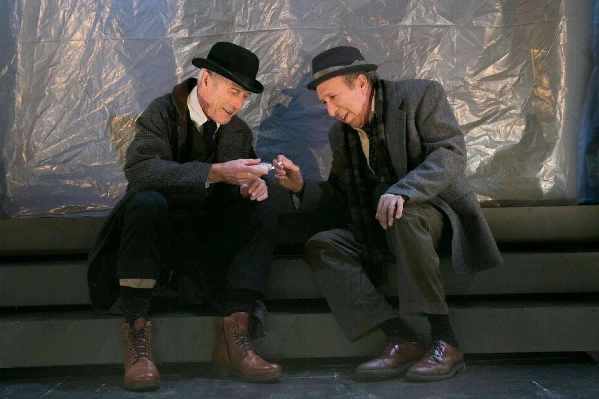 Will Lyman (Cream) and Ken Baltin (Gorman) in The Old Tune, part of Beckett in Brief, 2017-Photo by Evgenia Eliseeva