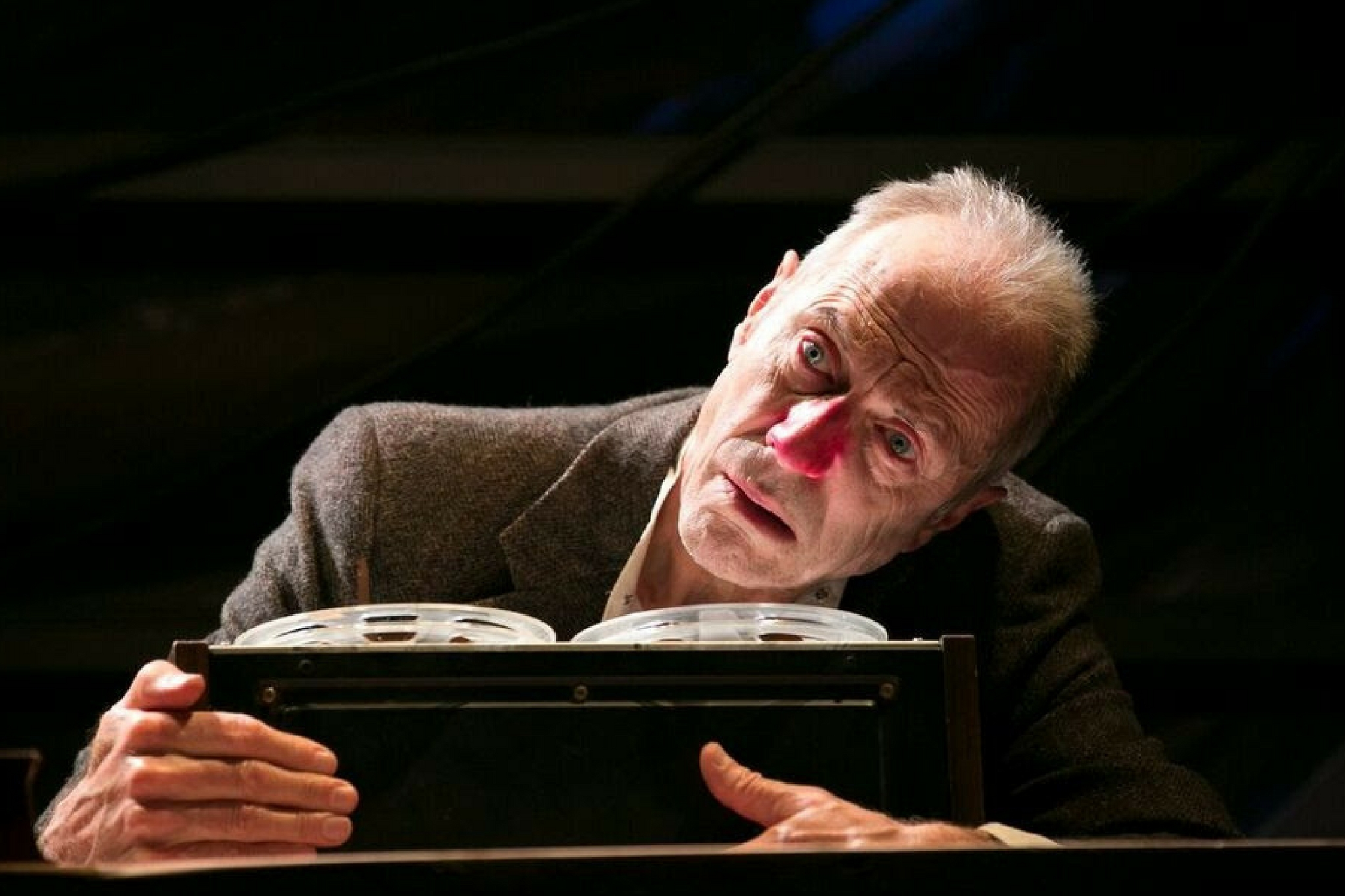 Will Lyman (Krapp) in Krapp's Last Tape, part of Beckett in Brief, 2017-Photo by Evgenia Eliseeva