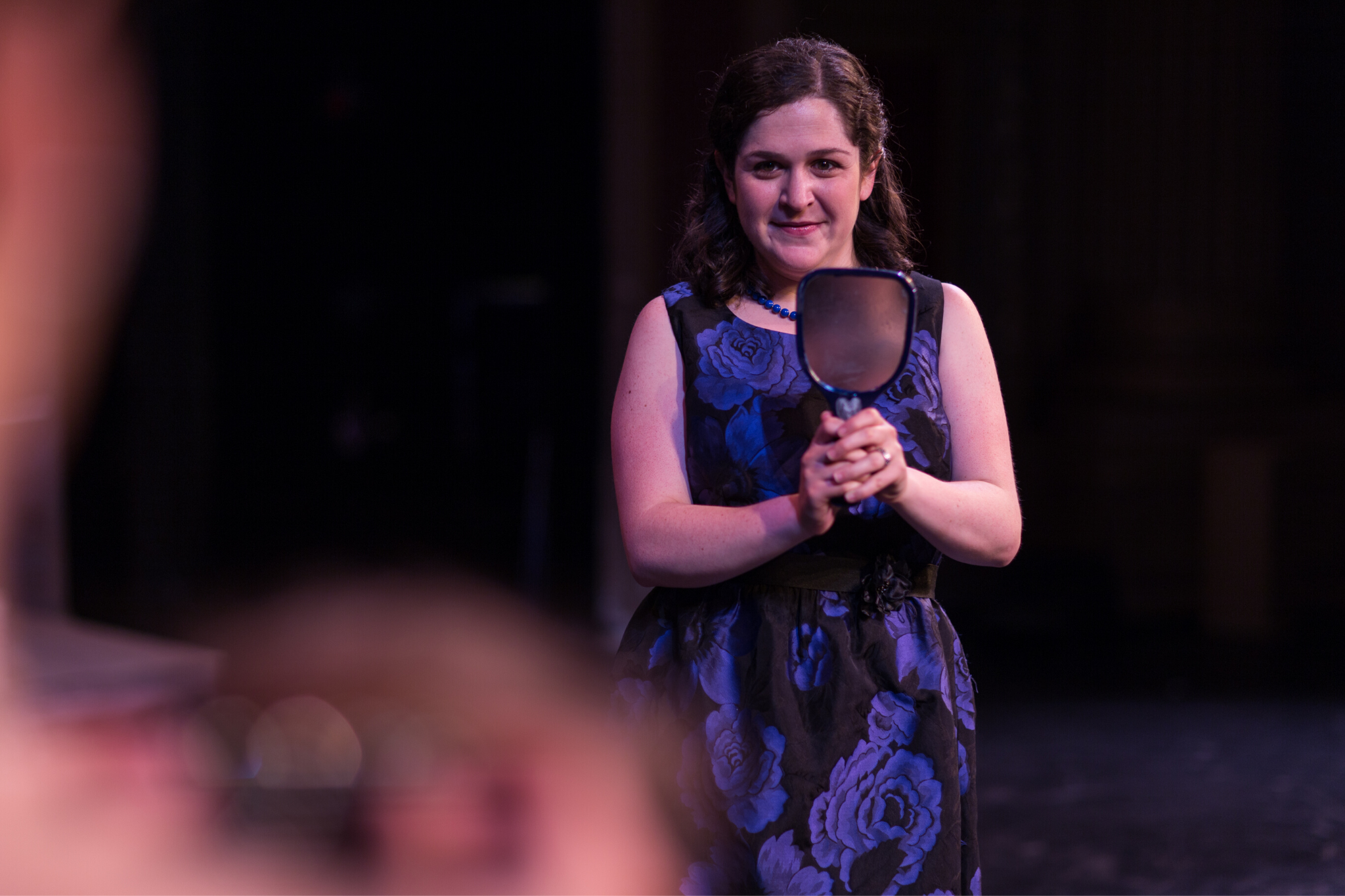 Kelsey Lidsky (Nurse) in Romeo & Juliet, CSC2, 2015-Photo by Nile Hawver