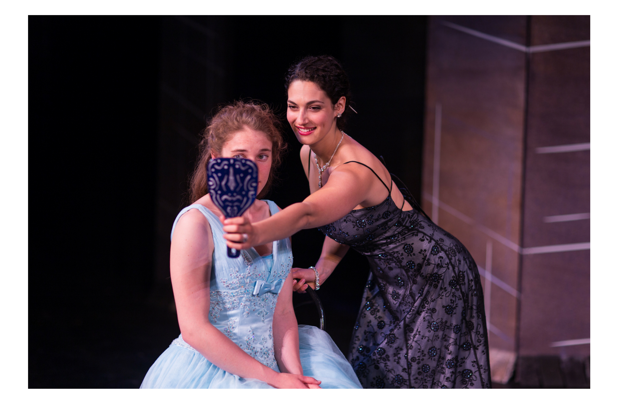 Charlotte Kinder (Juliet) and Sophia Blum (Lady Capulet) in Romeo & Juliet, CSC2, 2015-Photo by Nile Hawver