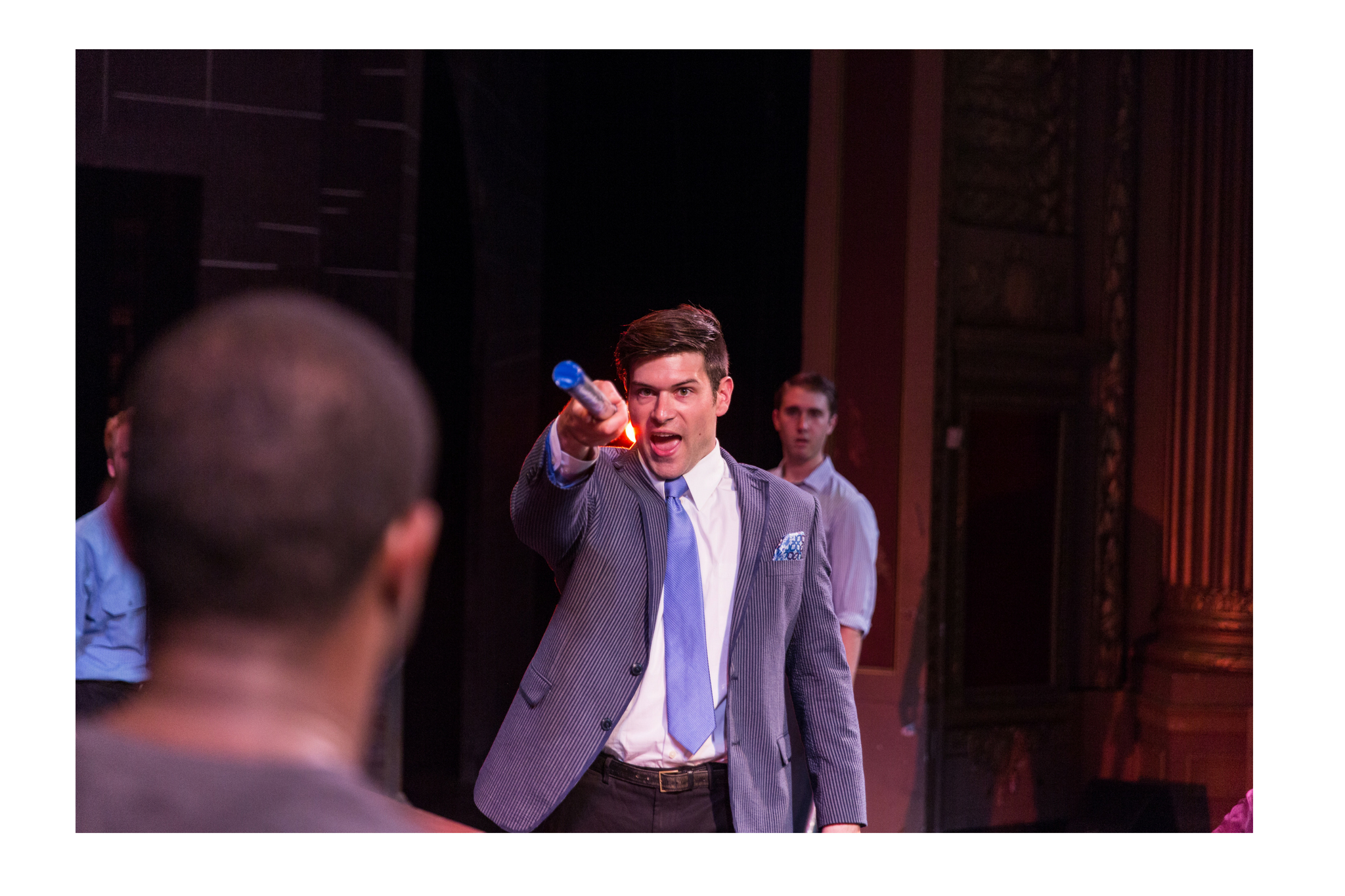 Matt Giampietro (Tybalt) in Romeo & Juliet, CSC2, 2015-Photo by Nile Hawver