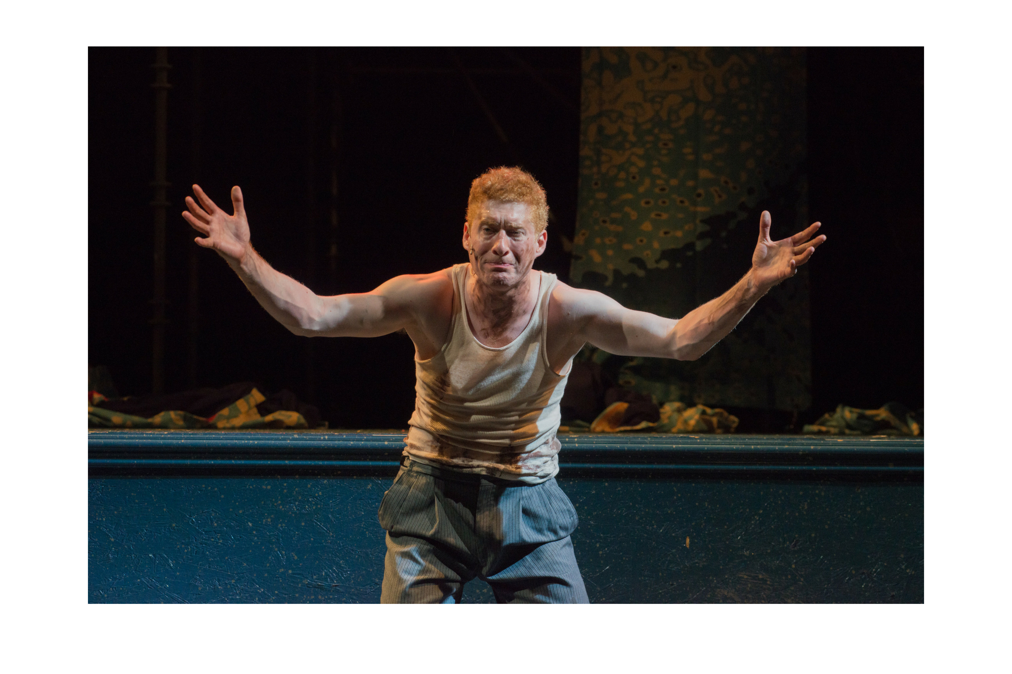 Ed Hoopman (Edgar) in King Lear, Shakespeare on the Common 2015-Photo by Andrew Brilliant