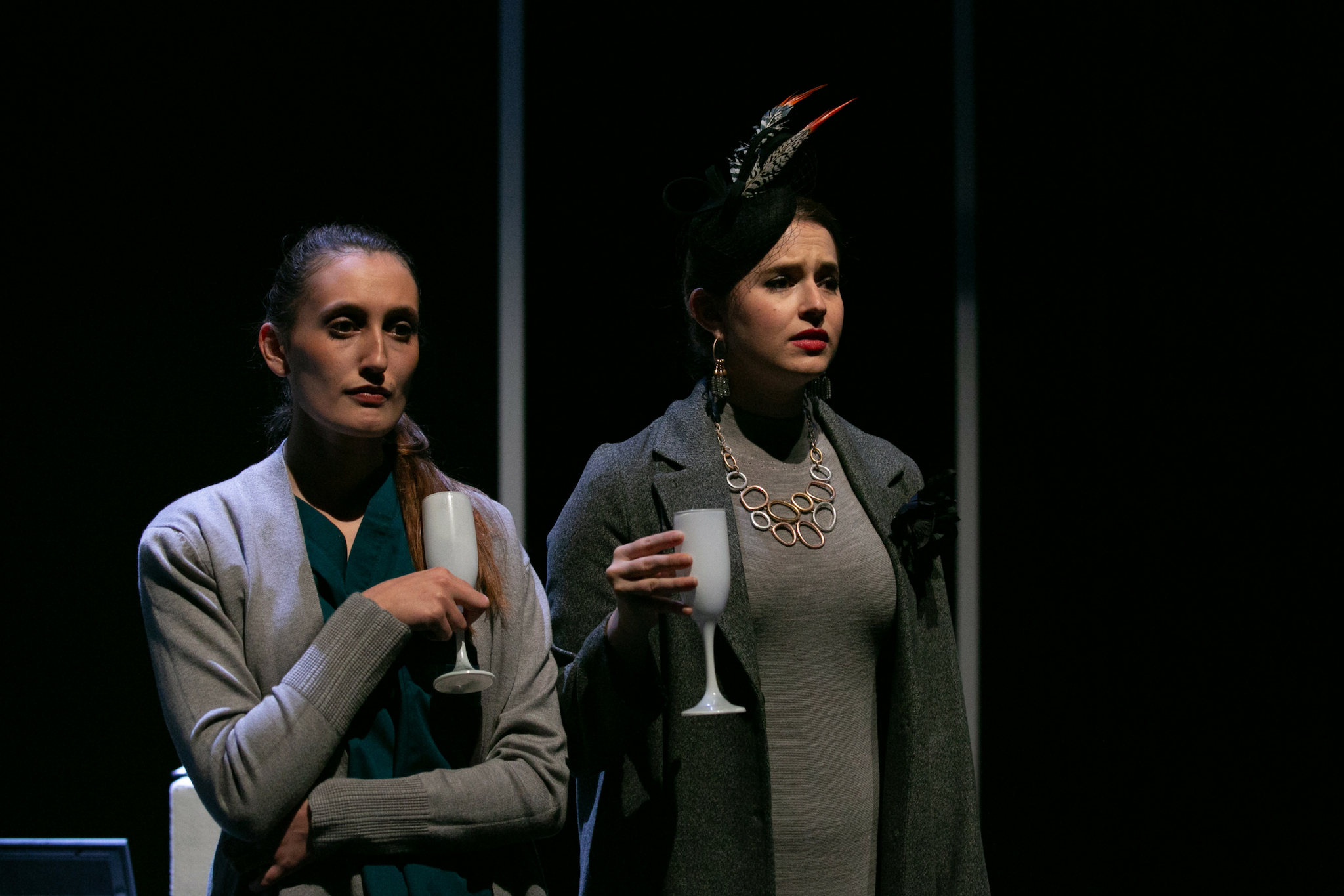 Siobhan Carroll and Sarah Mass in Here We Go, 2018-Photo by Evgenia Eliseeva