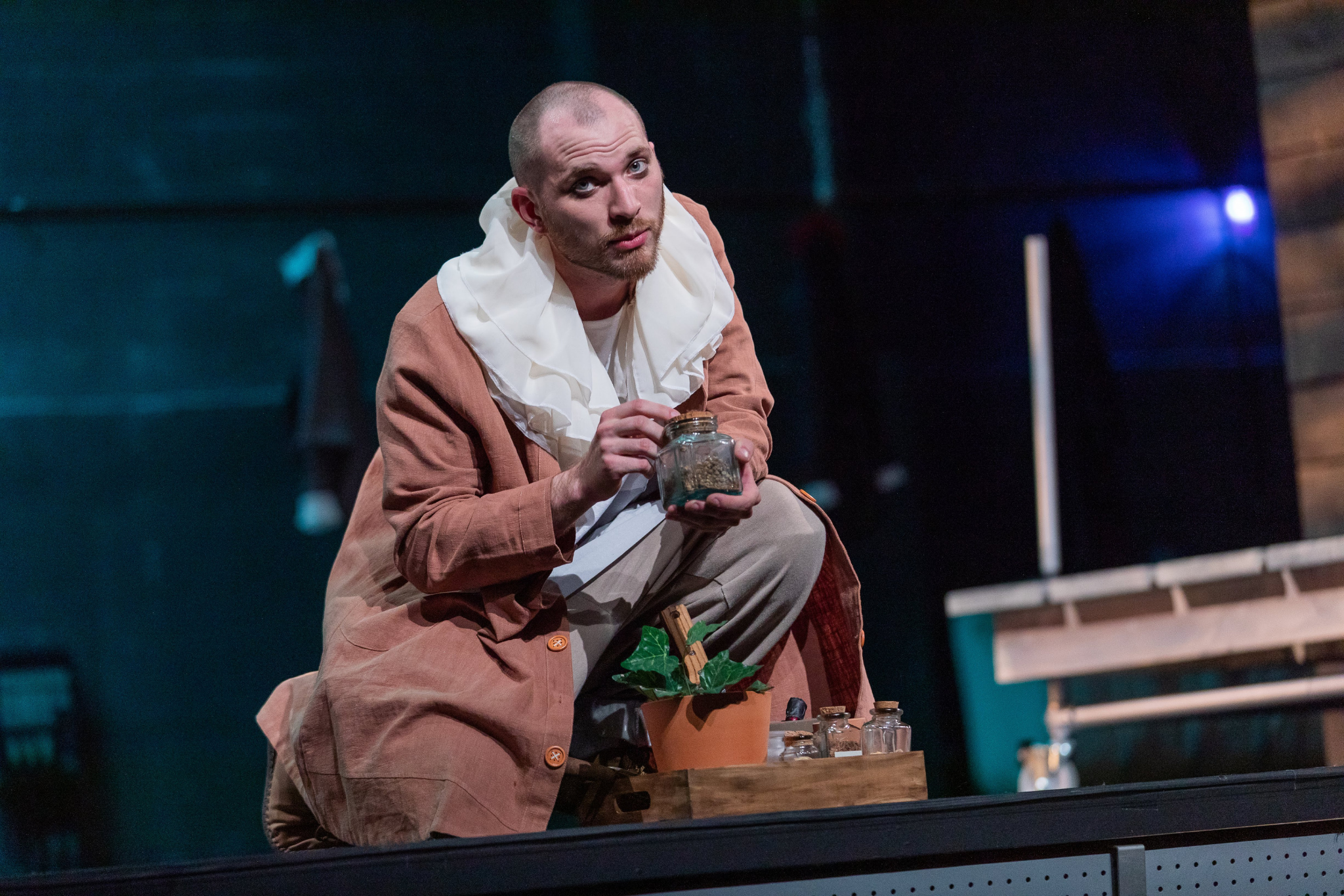 Zachary Gibb (Friar Laurence) in Romeo & Juliet, CSC2, 2019-Photo by Nile Hawver