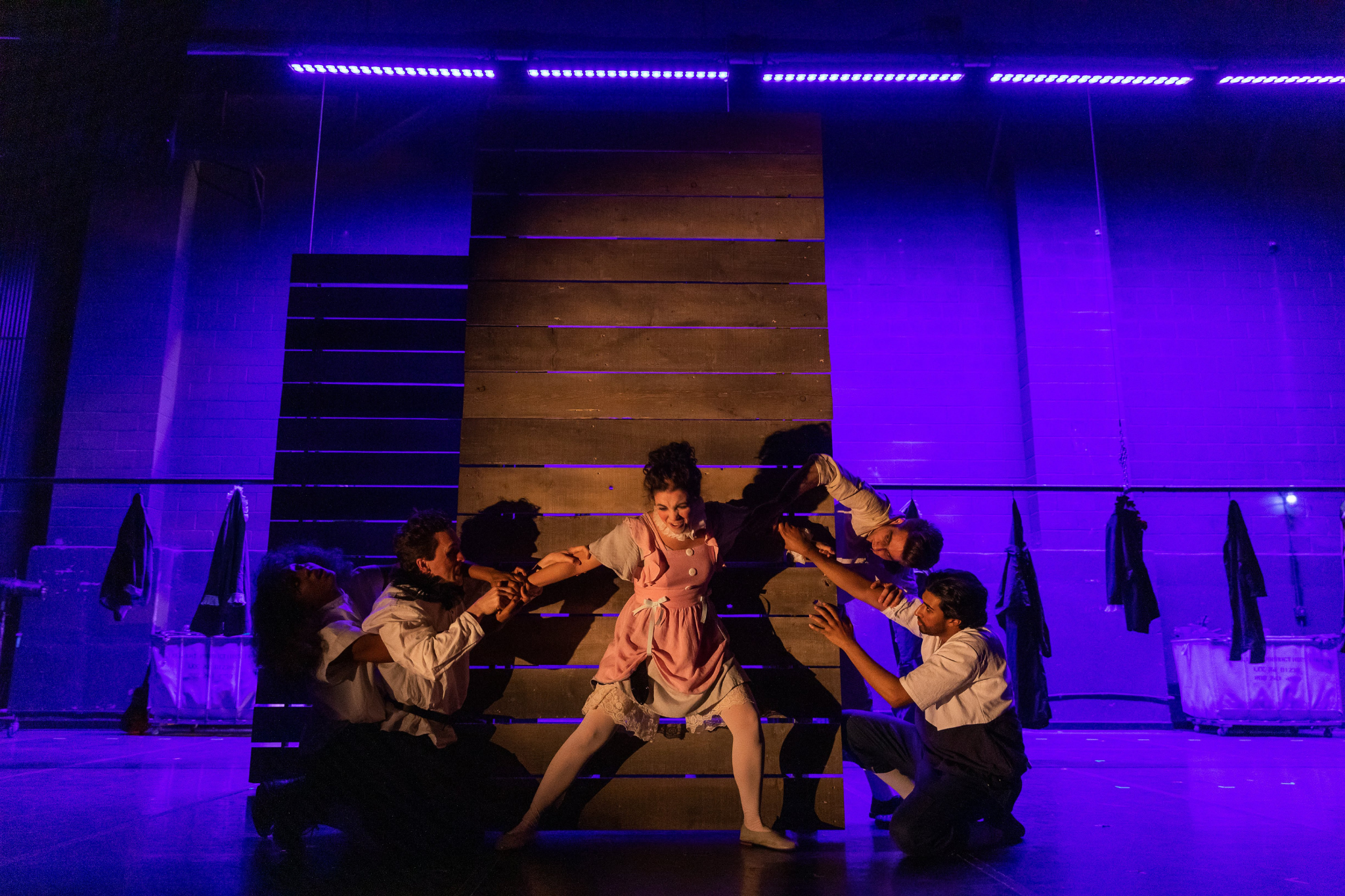 Erika Anclade (Juliet) and the cast of Romeo & Juliet, CSC2, 2019-Photo by Nile Hawver