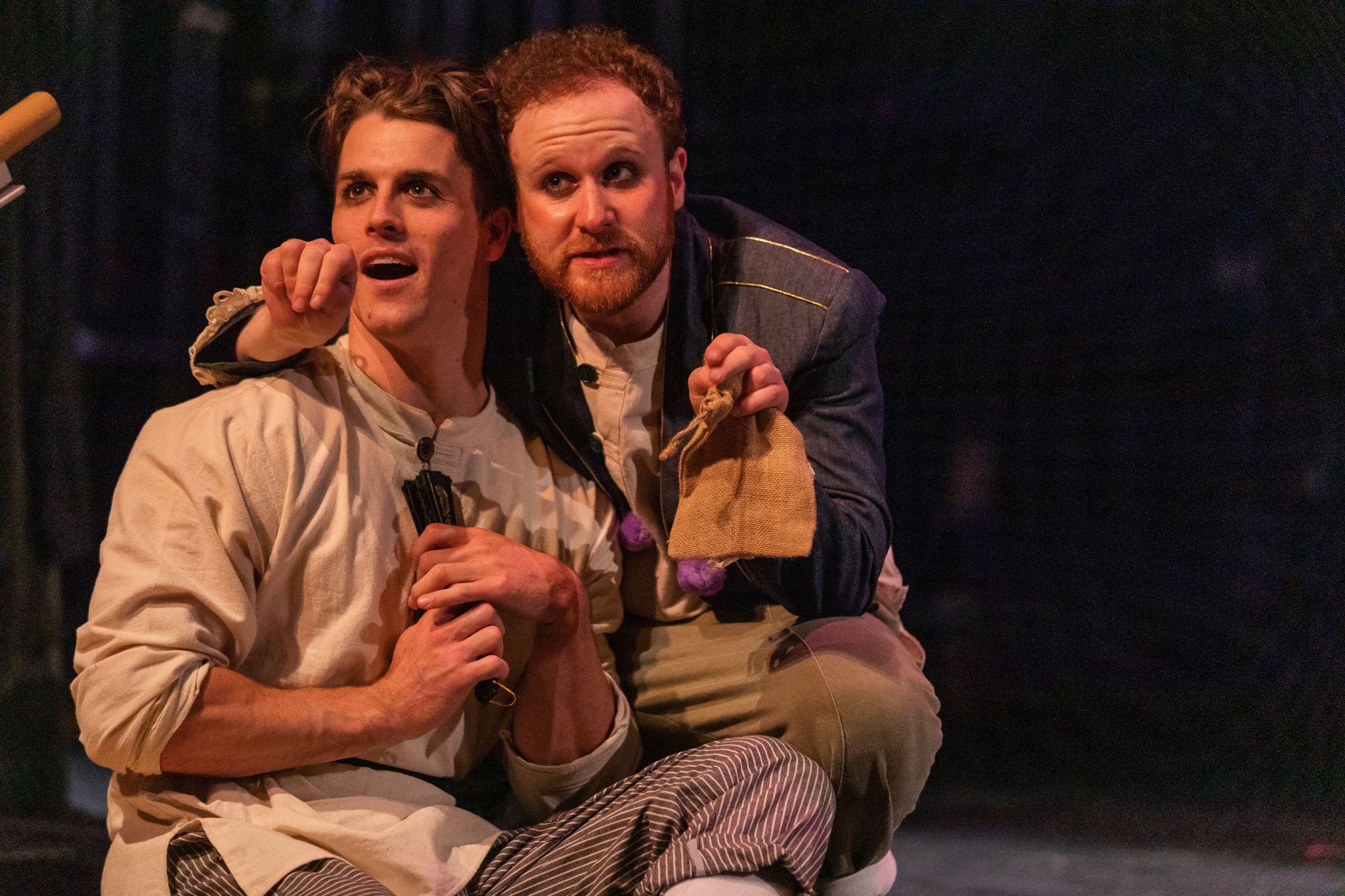 Michael Underhill and Brian Pollack in Romeo & Juliet, CSC2, 2019-Photo by Nile Hawver