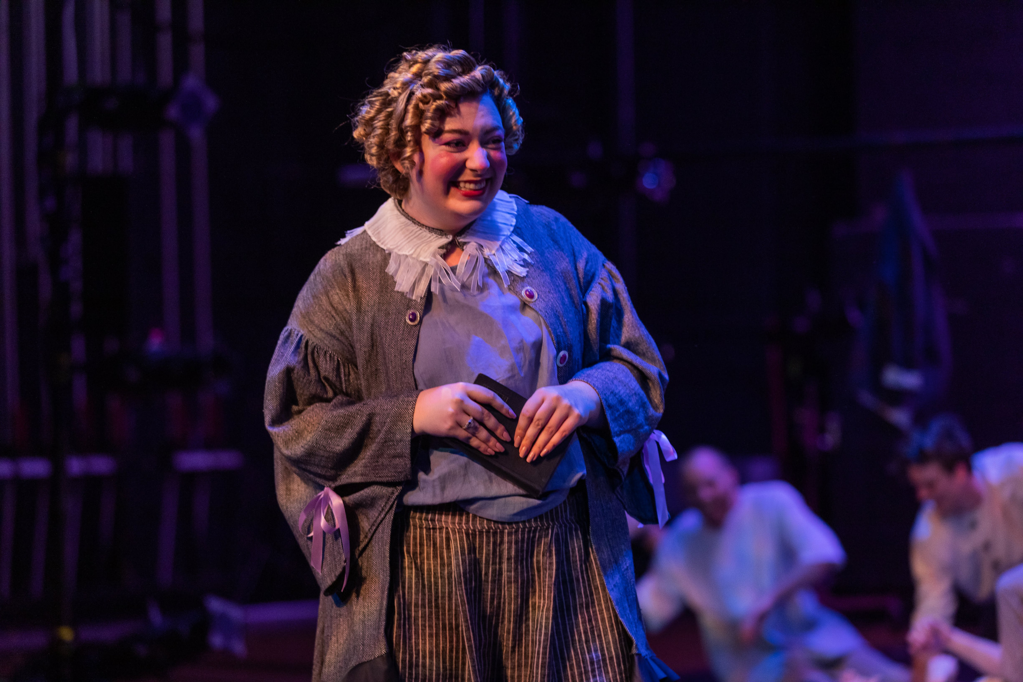 Ashley Knaack (Nurse) in Romeo & Juliet, CSC2, 2019-Photo by Nile Hawver