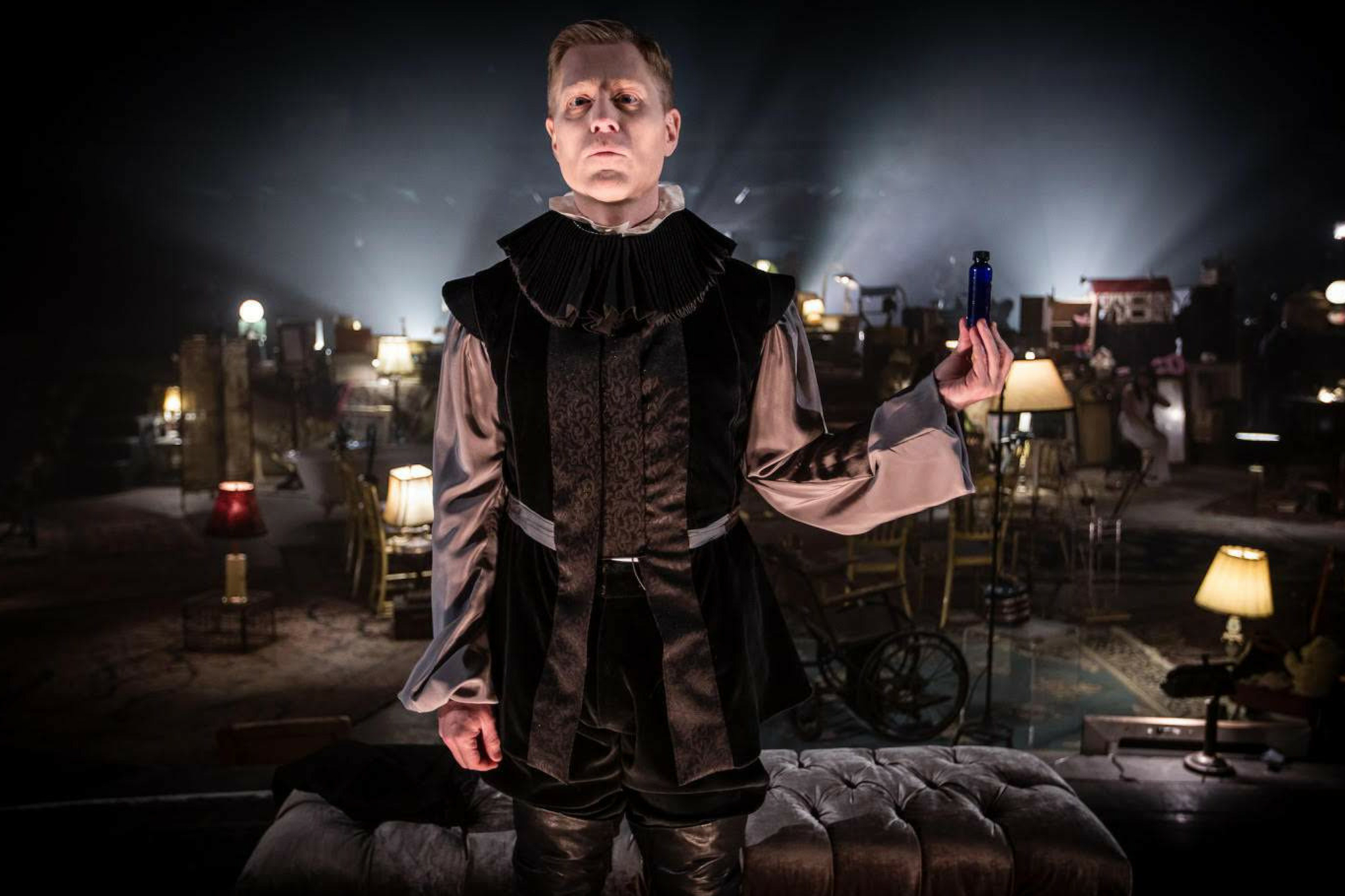 Anthony Rapp as Lucianus in Hamlet 360: Thy Father's Spirit. Photo by Matthew Niederhauser