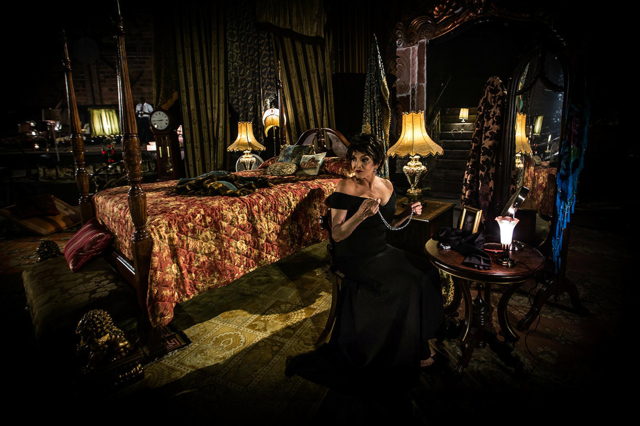 Brooke Adams as Queen Gertrude in Hamlet 360: Thy Father's Spirit. Photo by Matthew Niederhauser