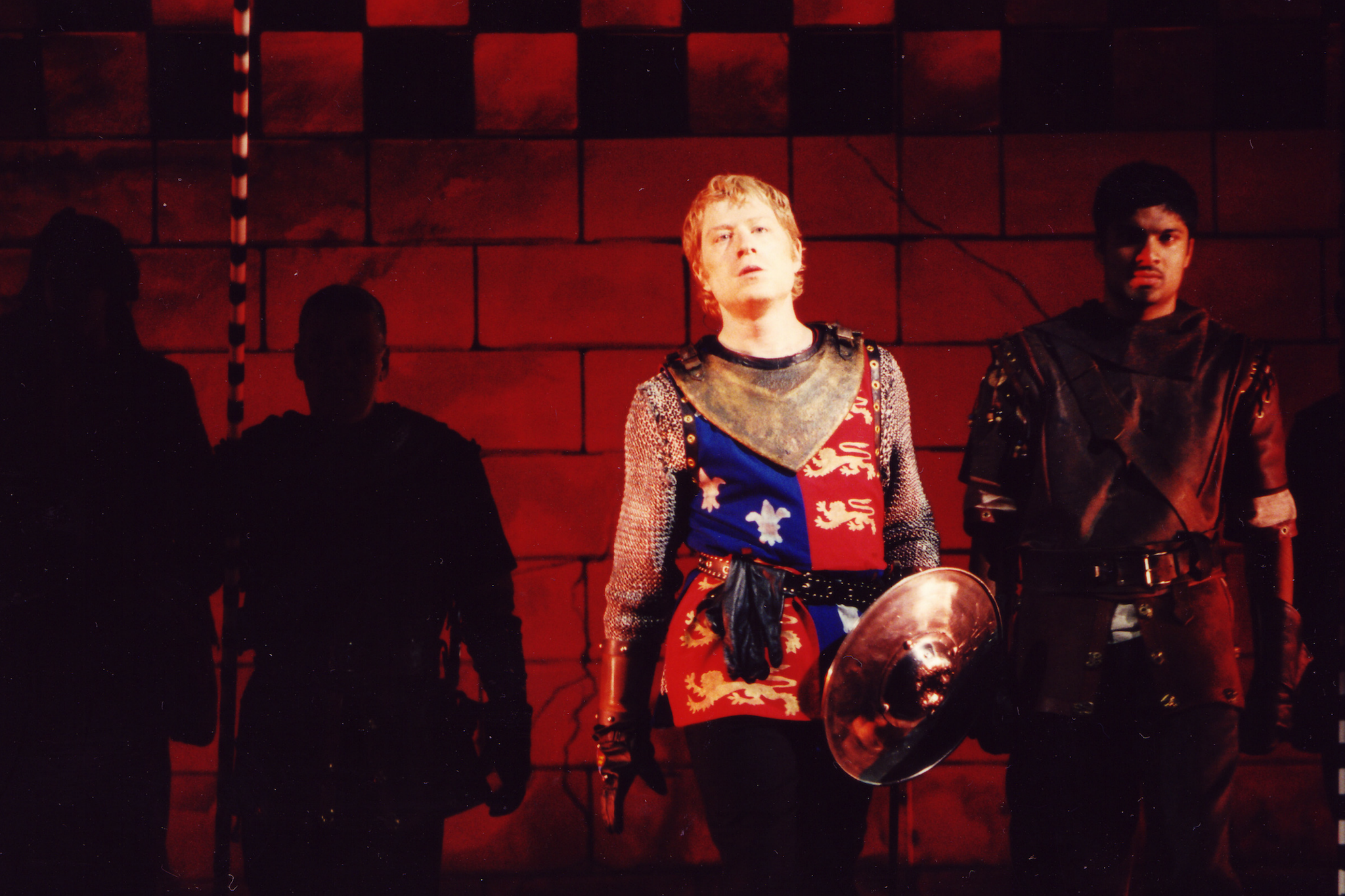 Anthony Rapp (Henry V) in Henry V, Shakespeare on the Common 2002
