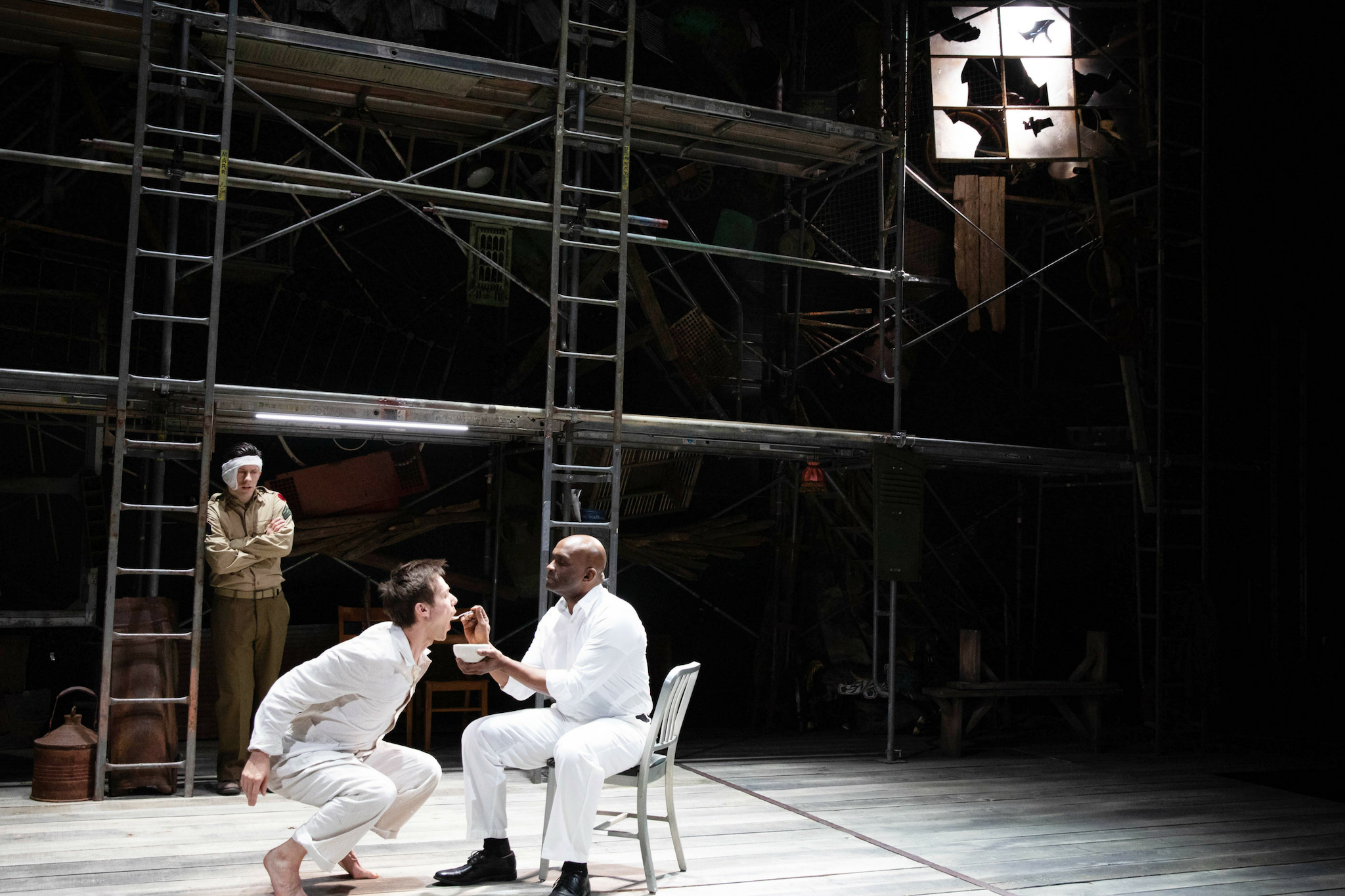 Keith White (Al), Will Taylor (Birdy), and Damon Singletary (Renaldi) in Birdy, 2019-Photo by Evgenia Eliseeva