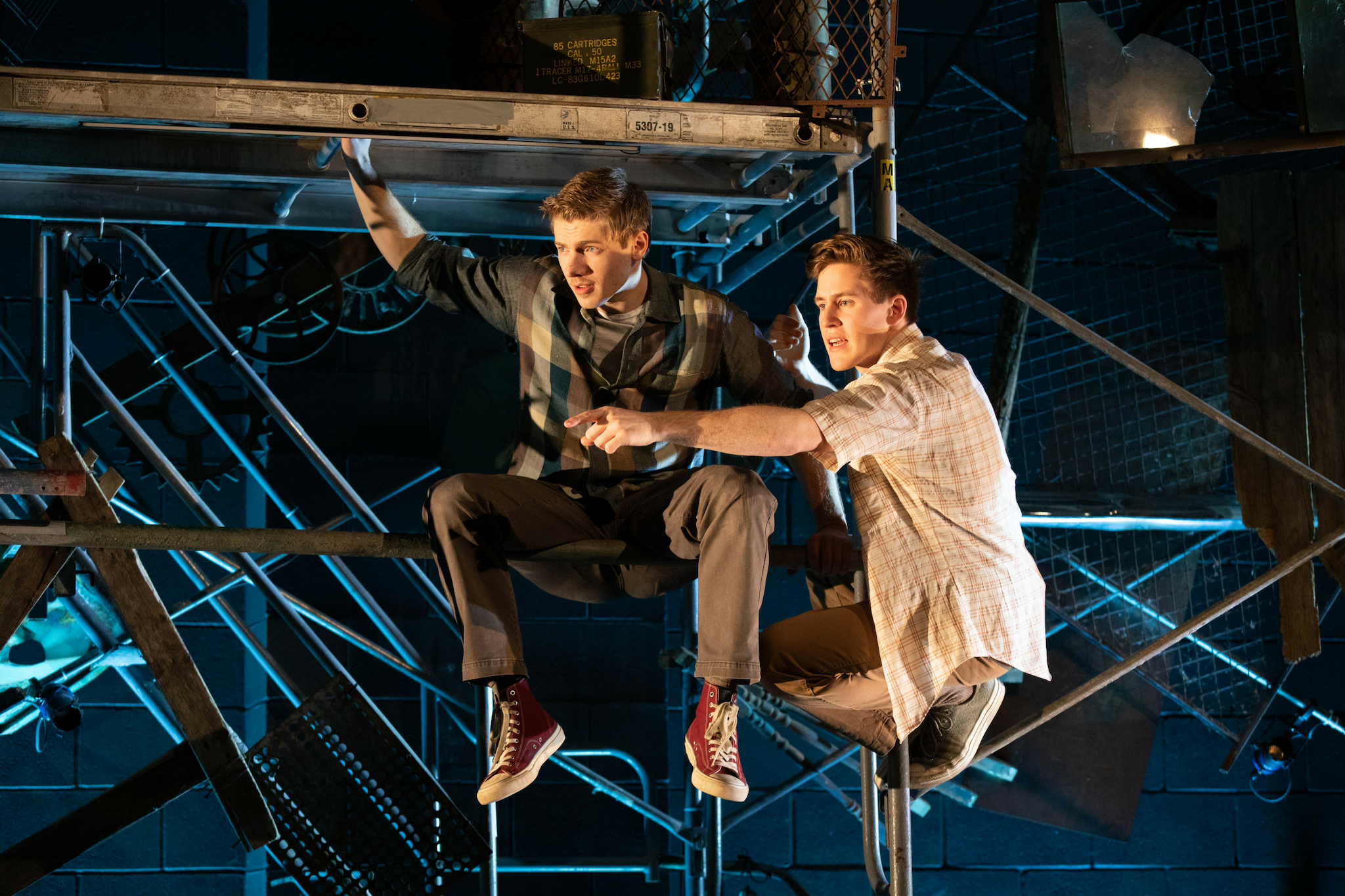 Maxim Chumov (Young Al) and Spencer Hamp (Young Birdy) in Birdy, 2019-Photo by Evgenia Eliseeva