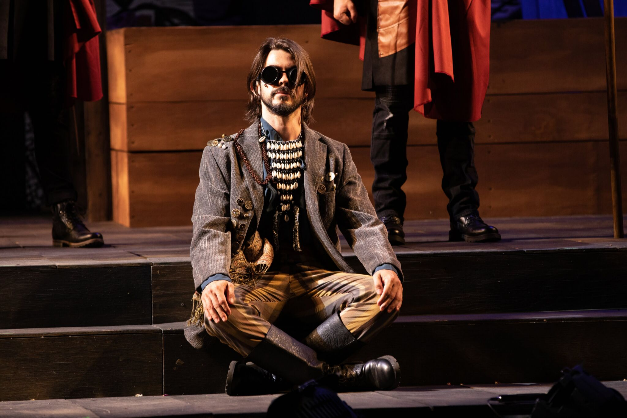 Gregory Hermann (Soothsayer) in Cymbeline, Shakespeare on the Common 2019-Photo by Evgenia Eliseeva