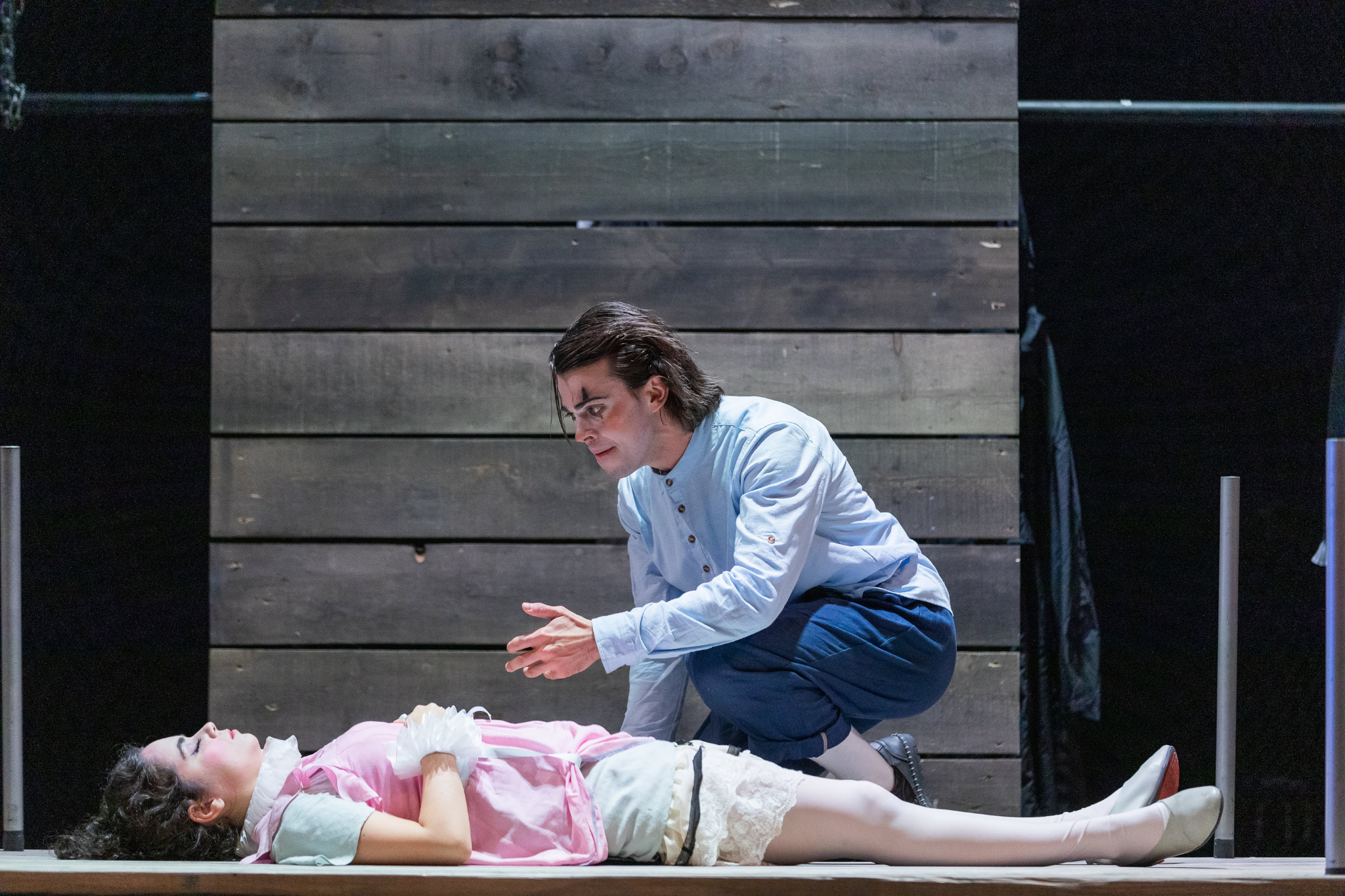 Erika Anclade (Juliet) and Greg Hermann (Romeo) in Romeo & Juliet, CSC2, 2019-Photo by Nile Hawver