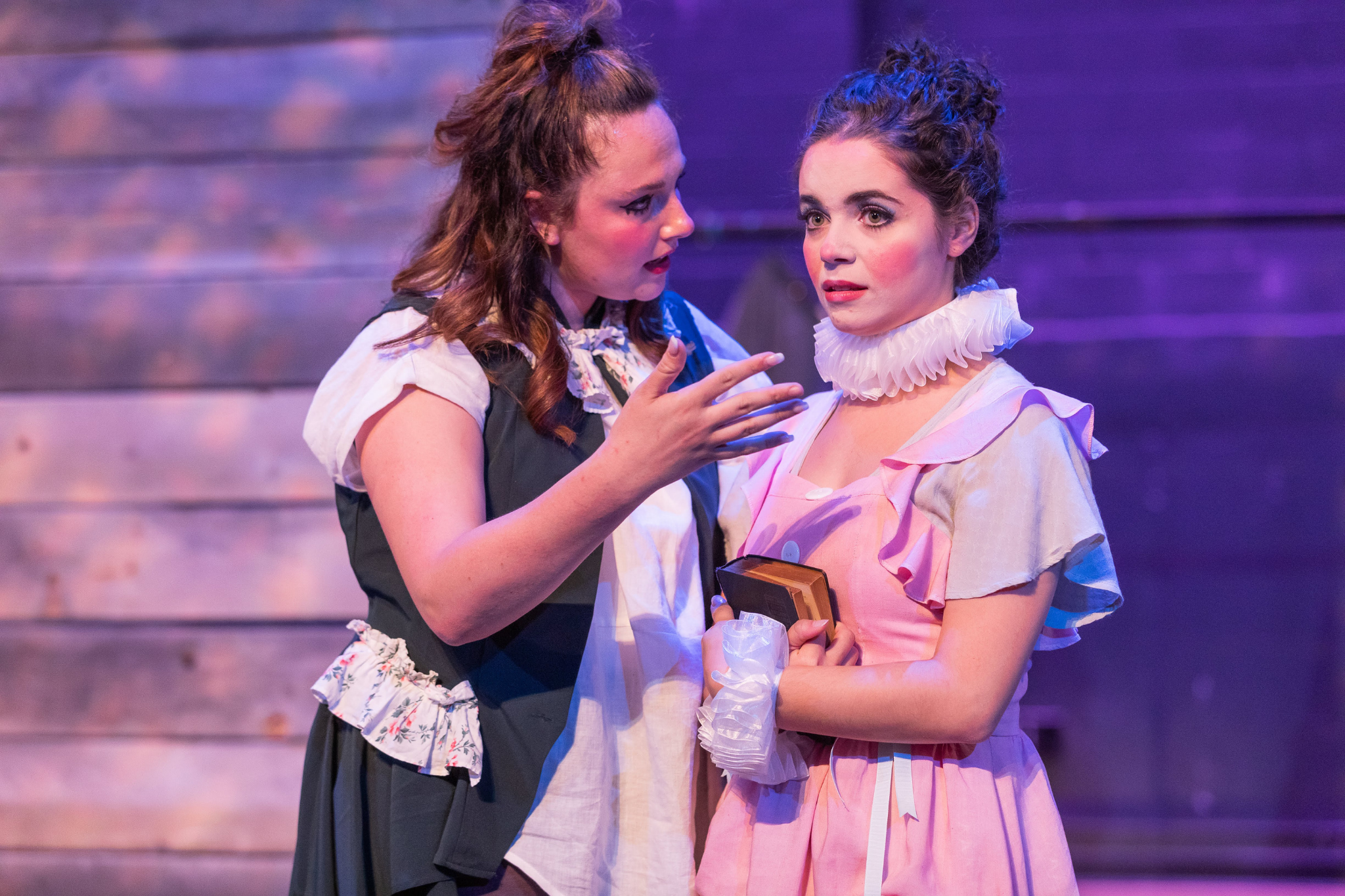 Sarah Vasilevsky (Lady Capulet) and Erika Anclade (Juliet) in Romeo & Juliet, CSC2, 2019-Photo by Nile Hawver