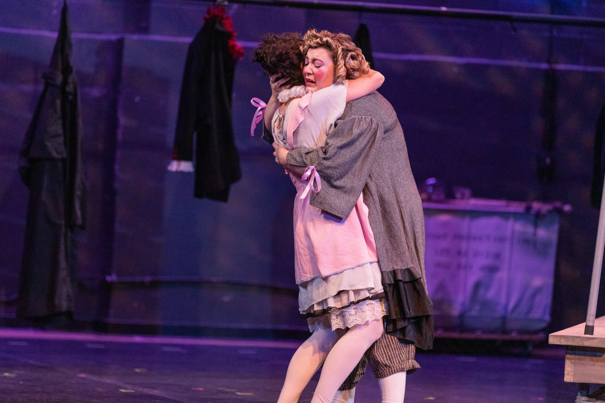 Erika Anclade (Juliet) and Ashley Knaack (Nurse )in Romeo & Juliet, CSC2, 2019-Photo by Nile Hawver