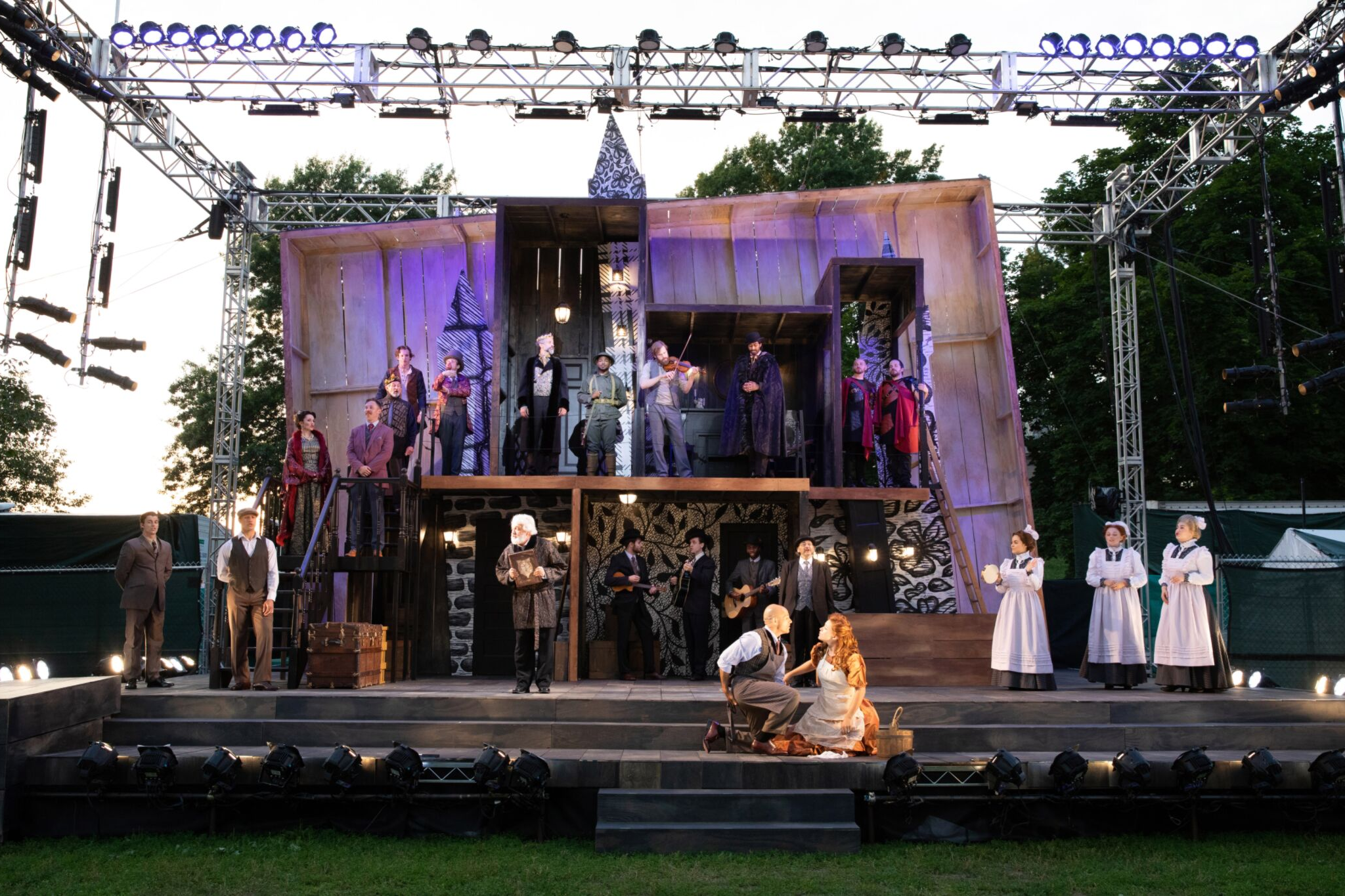 The cast of Cymbeline, Shakespeare on the Common 2019-Photo by Evgenia Eliseeva