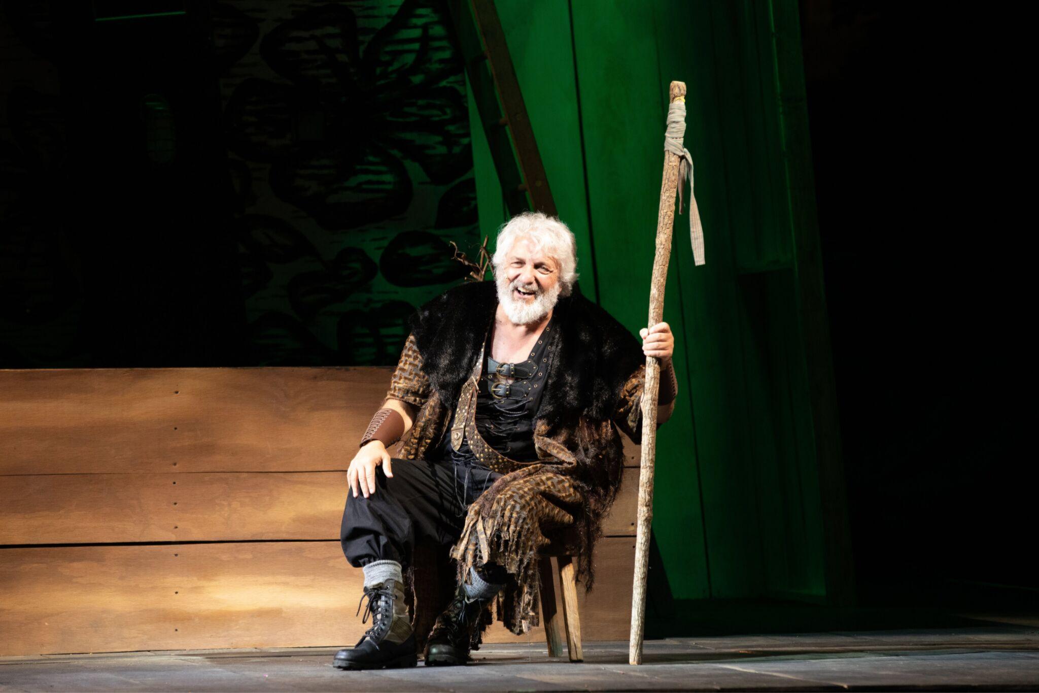 Tom Gleadow (Belarius) in Cymbeline, Shakespeare on the Common 2019-Photo by Evgenia Eliseeva
