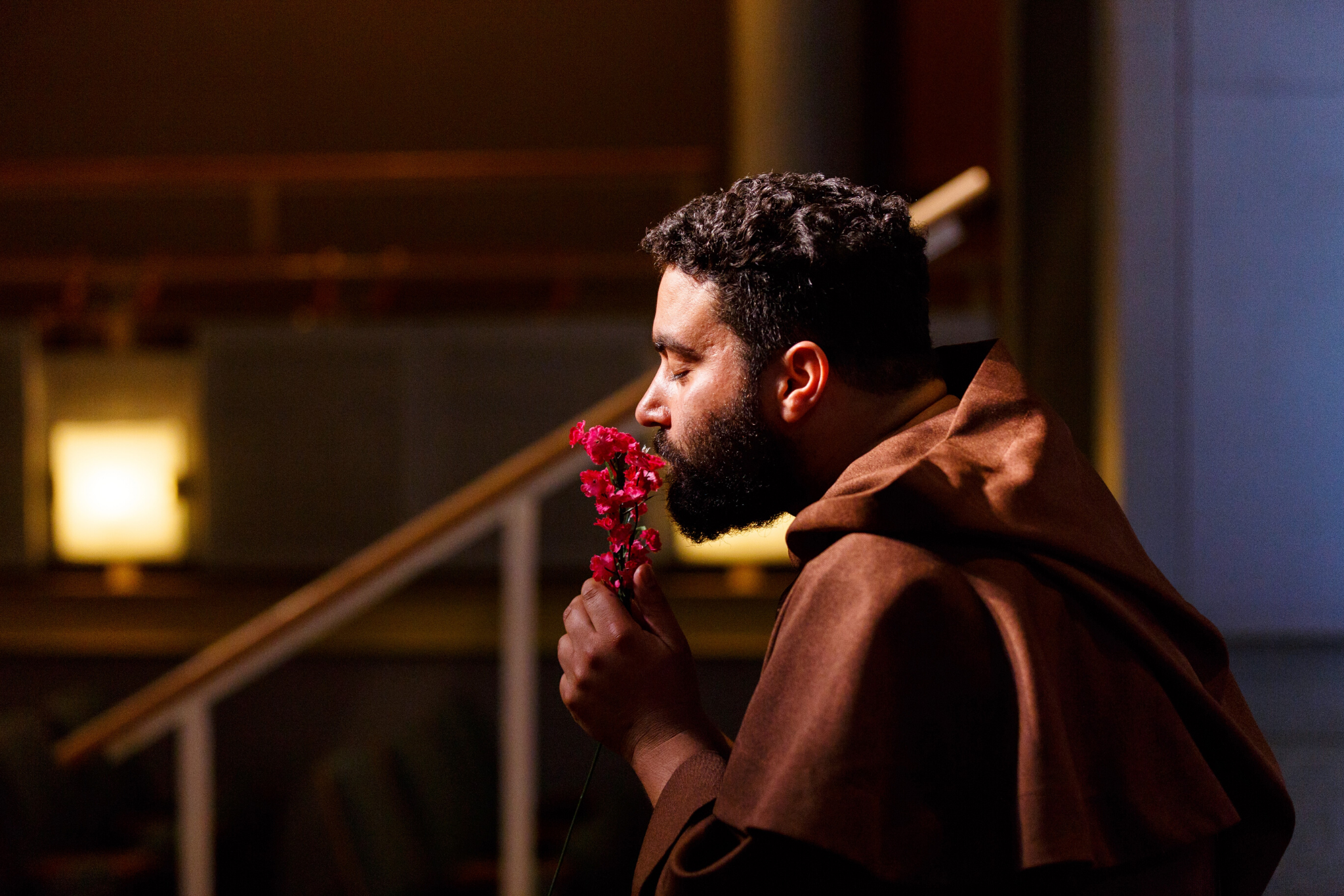 Arisaeil Rivera (Friar Laurence) in Romeo & Juliet, CSC2, 2015-Photo by Nile Hawver