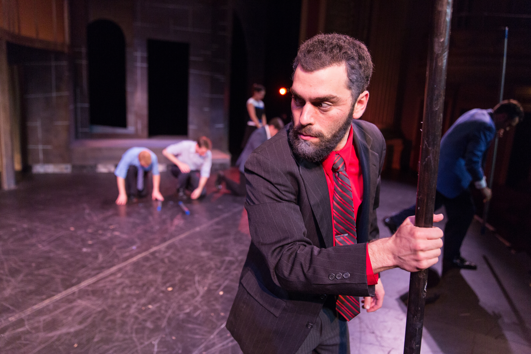 Avery Barger (Lord Montague) in Romeo & Juliet, CSC2, 2015-Photo by Nile Hawver
