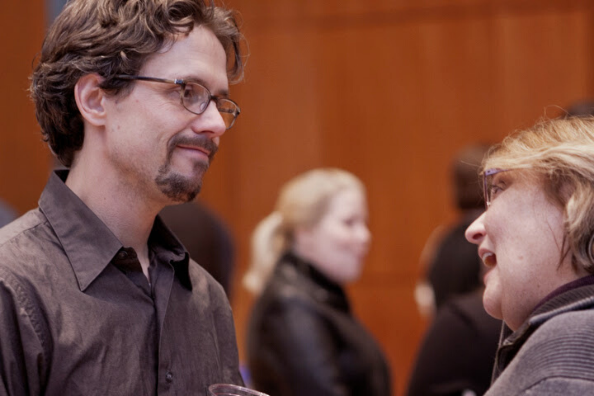Lewis Wheeler at a reception for Richard III, Theater in the Rough, 2013