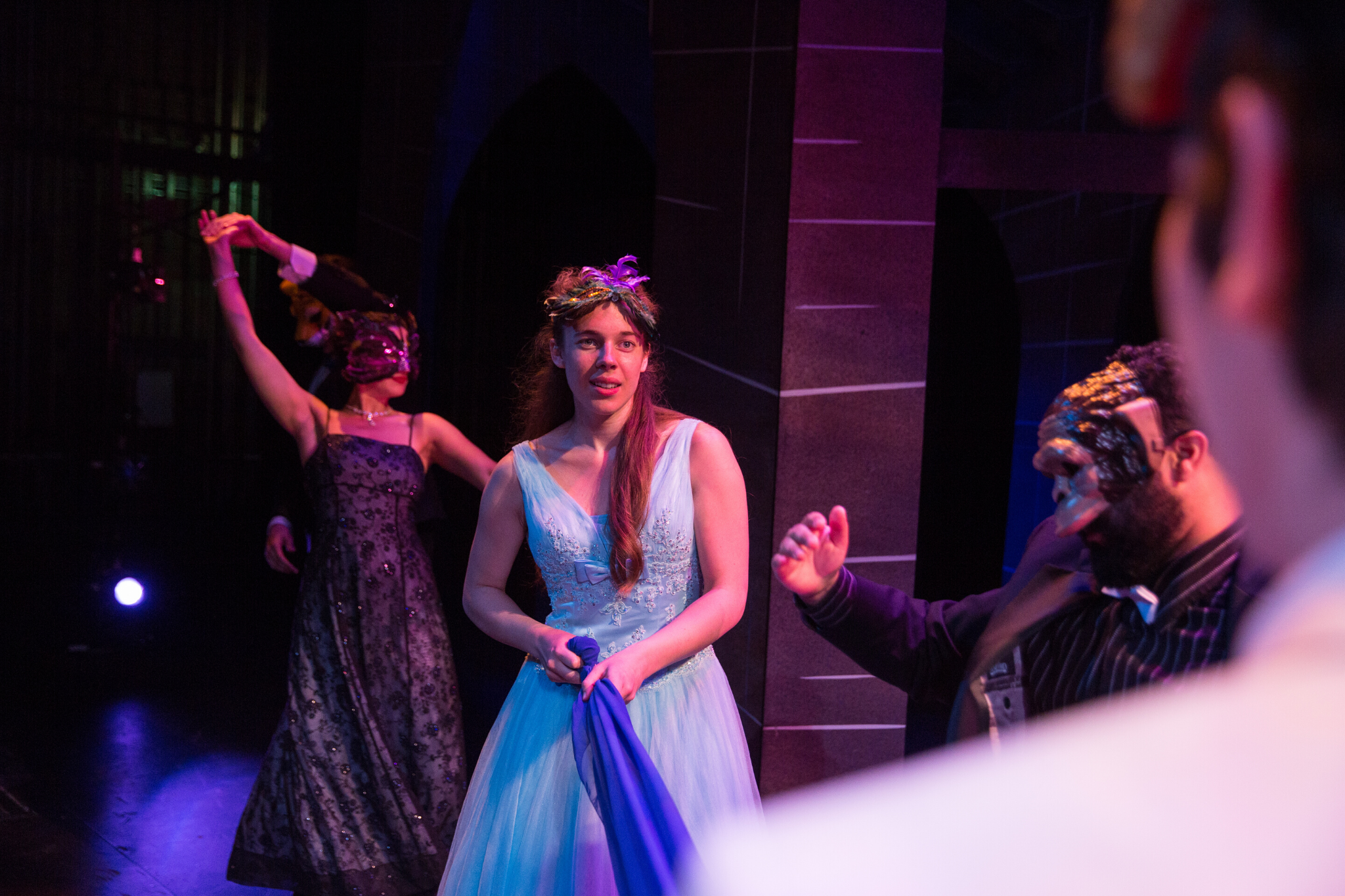 Charlotte Kinder (Juliet) in Romeo & Juliet, CSC2, 2015-Photo by Nile Hawver