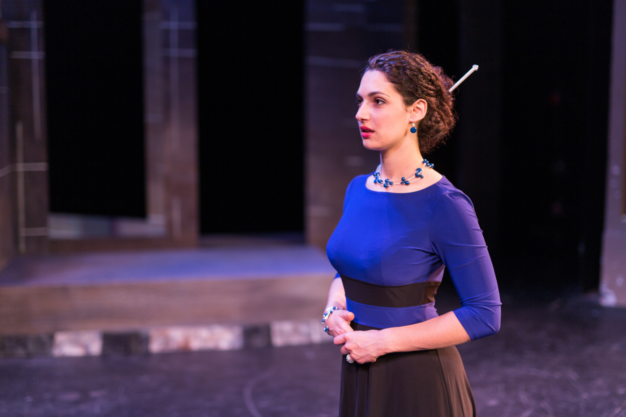 Sophia Blum (Lady Capulet) in Romeo & Juliet, CSC2, 2015-Photo by Nile Hawver