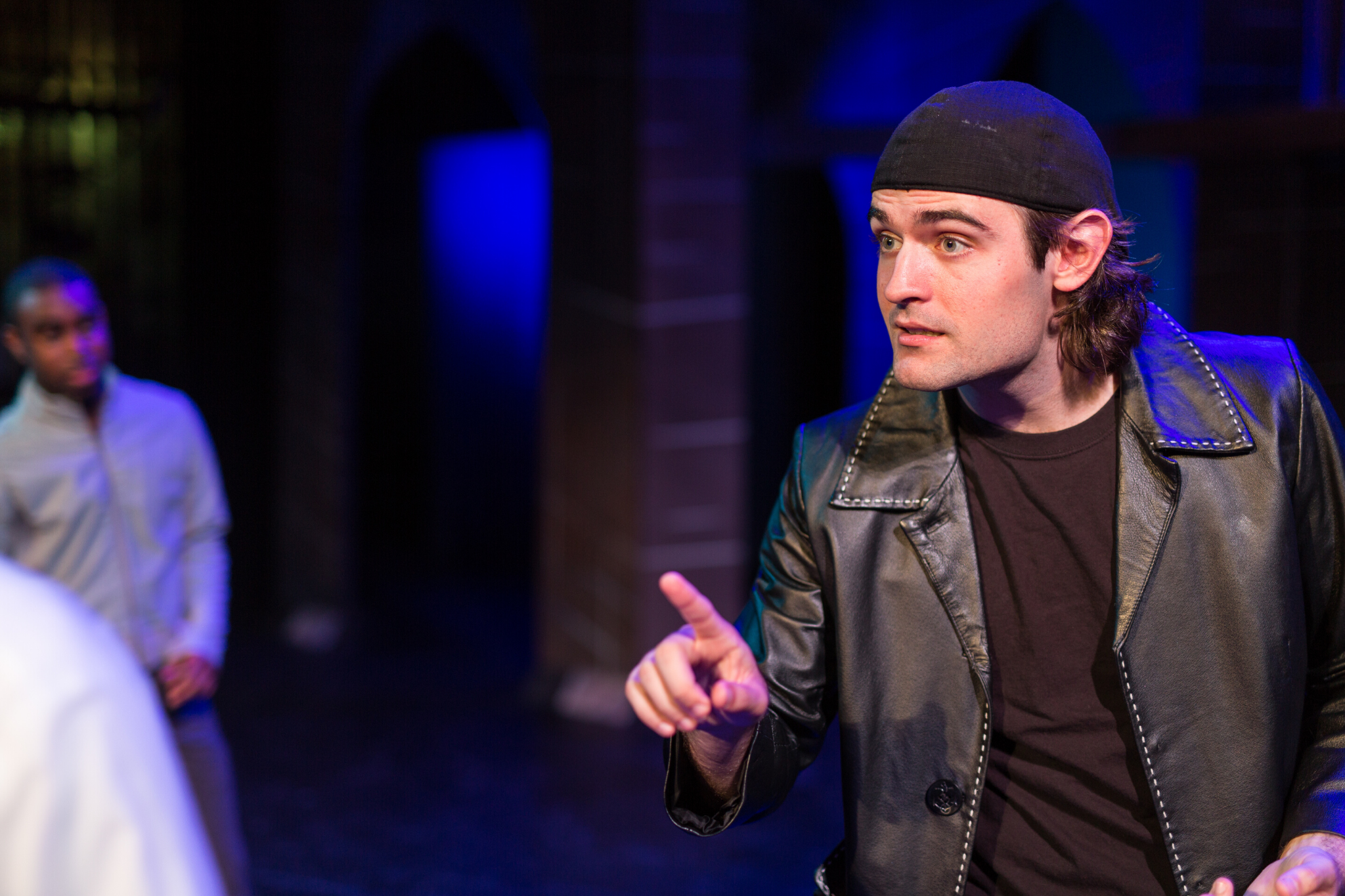 Addison Williams (Mercutio) in Romeo & Juliet, CSC2, 2015-Photo by Nile Hawver